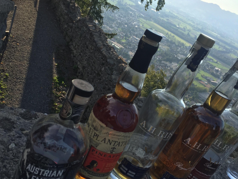 Rum vom Feinsten gab es auf der Burgruine Alt-Ems zu degustieren
