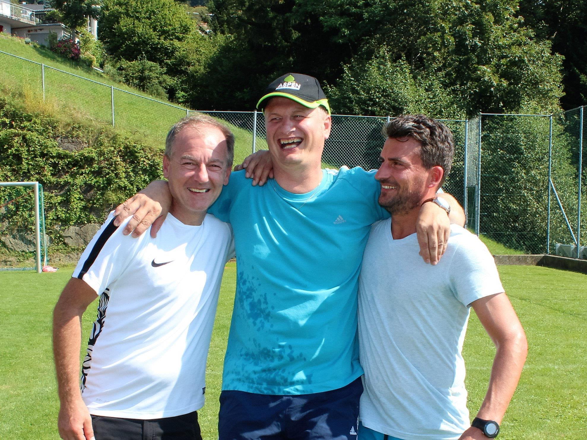 Siegertrio: Erwin Visintainer, Johannes Böhler und Simon Nußbaumer.