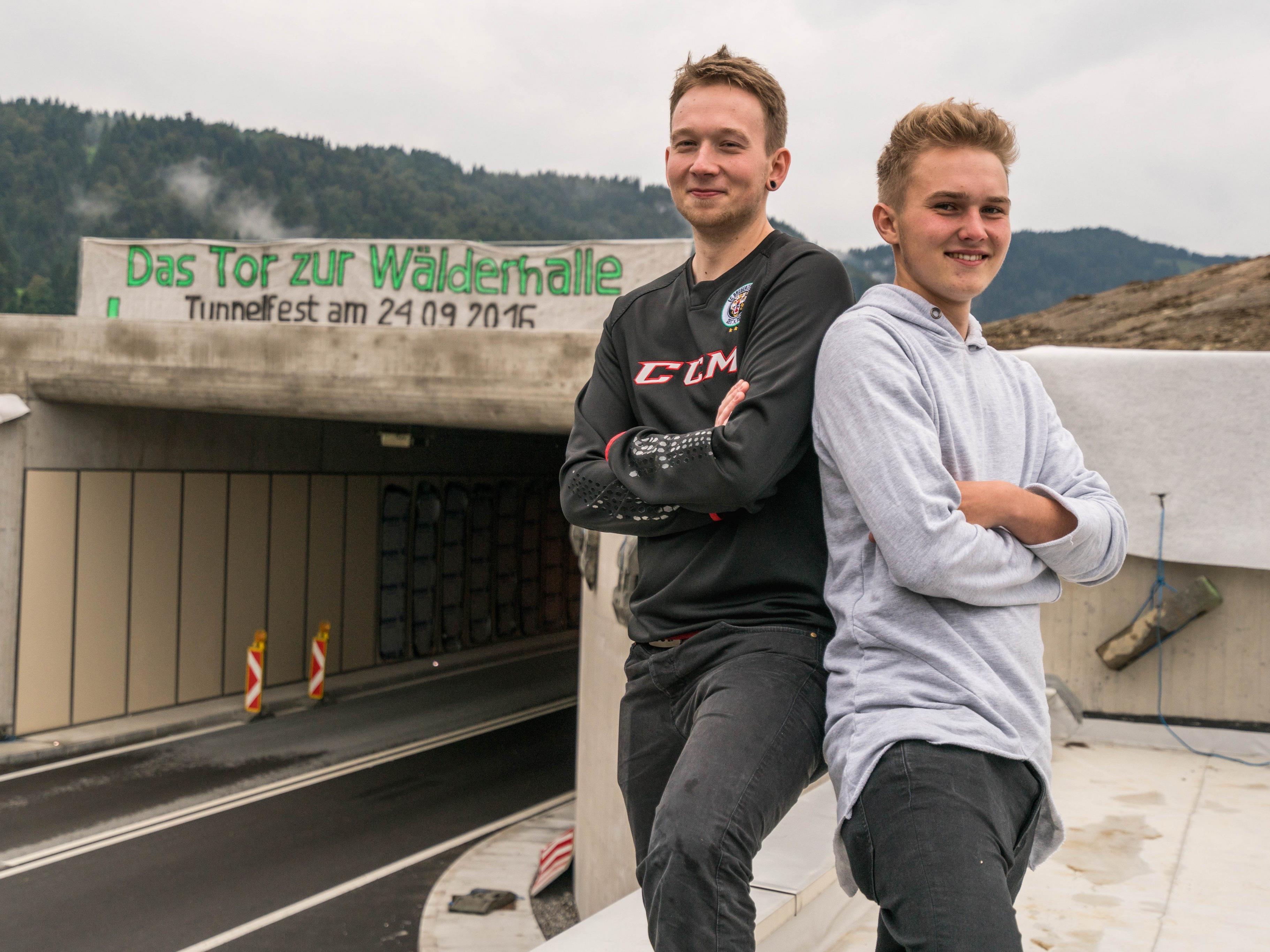 Haben sich für die Bregenzerwälder Jugend eingesetzt: Mario (24) und Florian (19) Kleber aus Andelsbuch.
