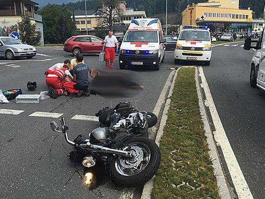 Das Bregenzer Ehepaar verunfallte mit dem Motorrad in Kärnten.
