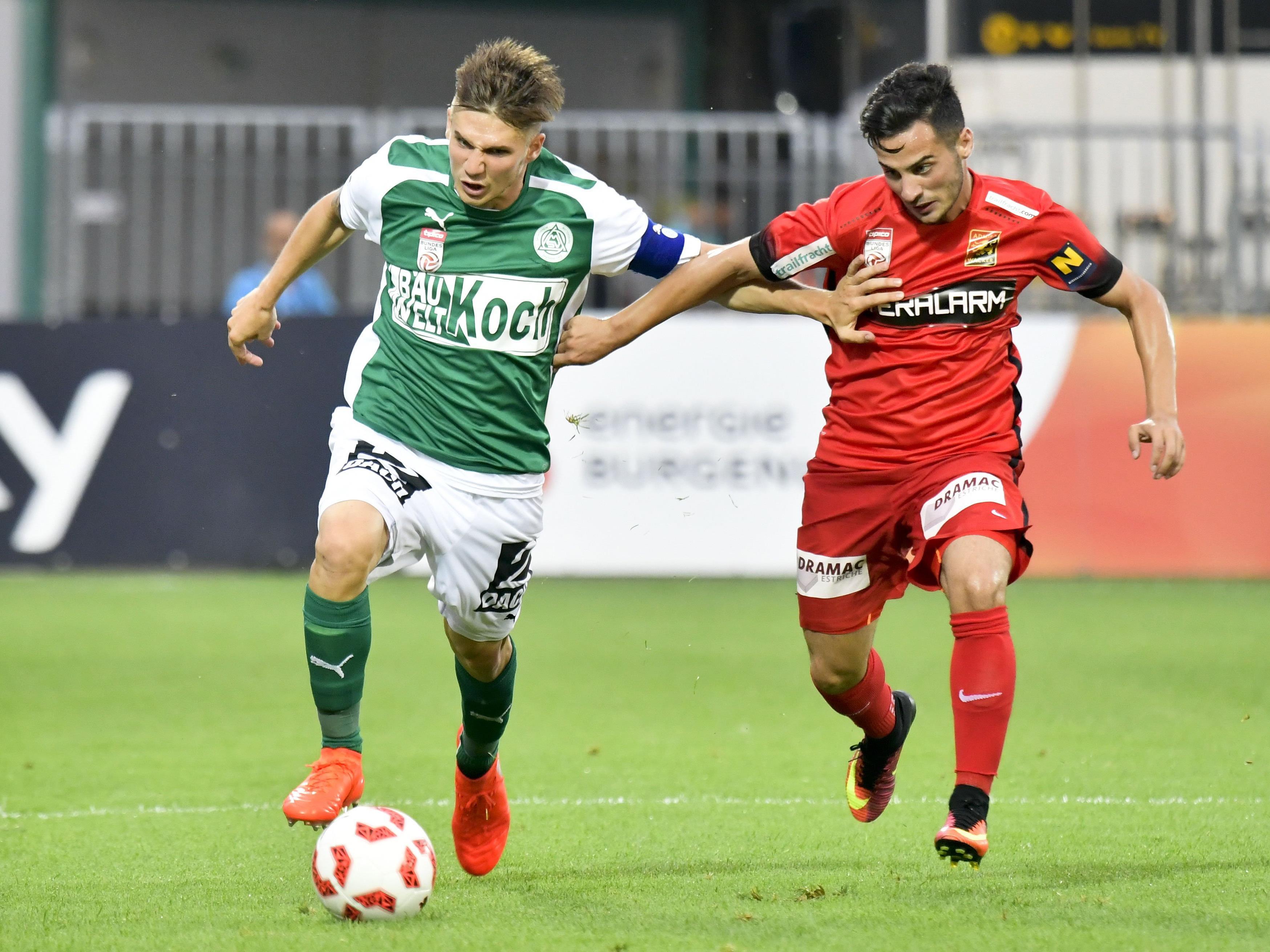 Admira spielt am Samstag gegen Mattersburg