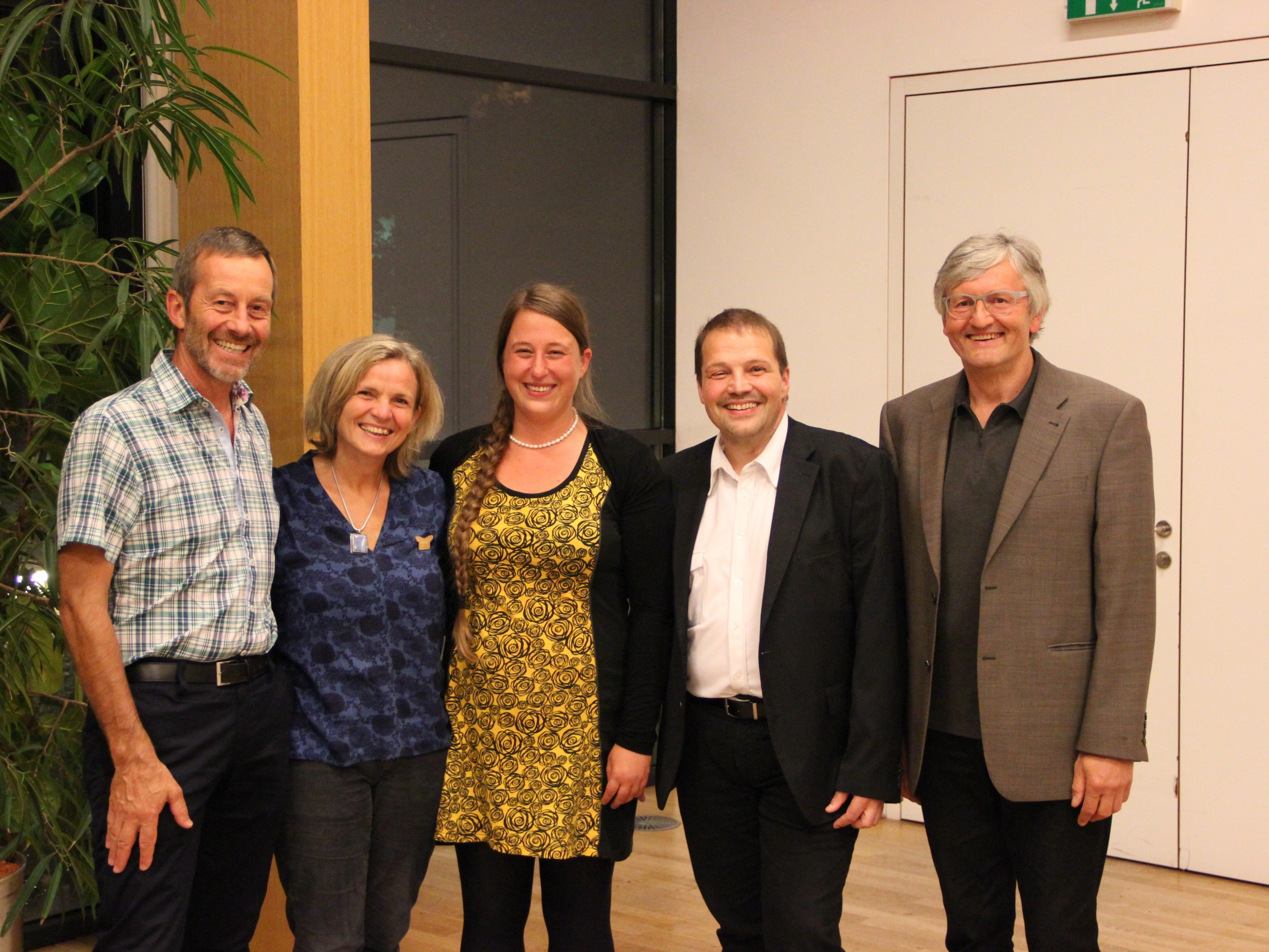 v. l. Prof. Günter Ladstätter, Mag. Christiane Machold, Umweltreferentin Anna Waibel, MSc, StR. Günter Mathis, Dkfm. Ing. Roland Mangold