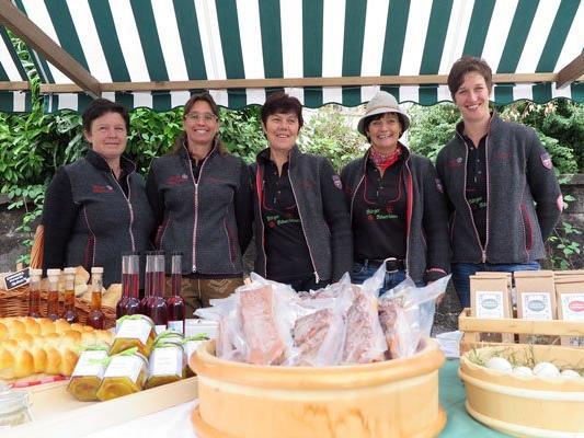 Bäuerinnen aus der Region präsentierten ihre Produkte.