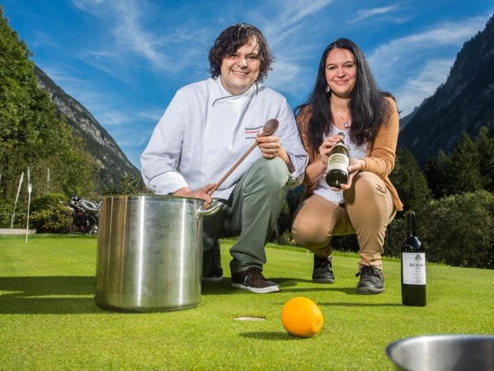Haben den Brandner Golfclub zur kulinarischen Topadresse gemacht: Gabriella Schedler und Angel Domingo Jabonero.