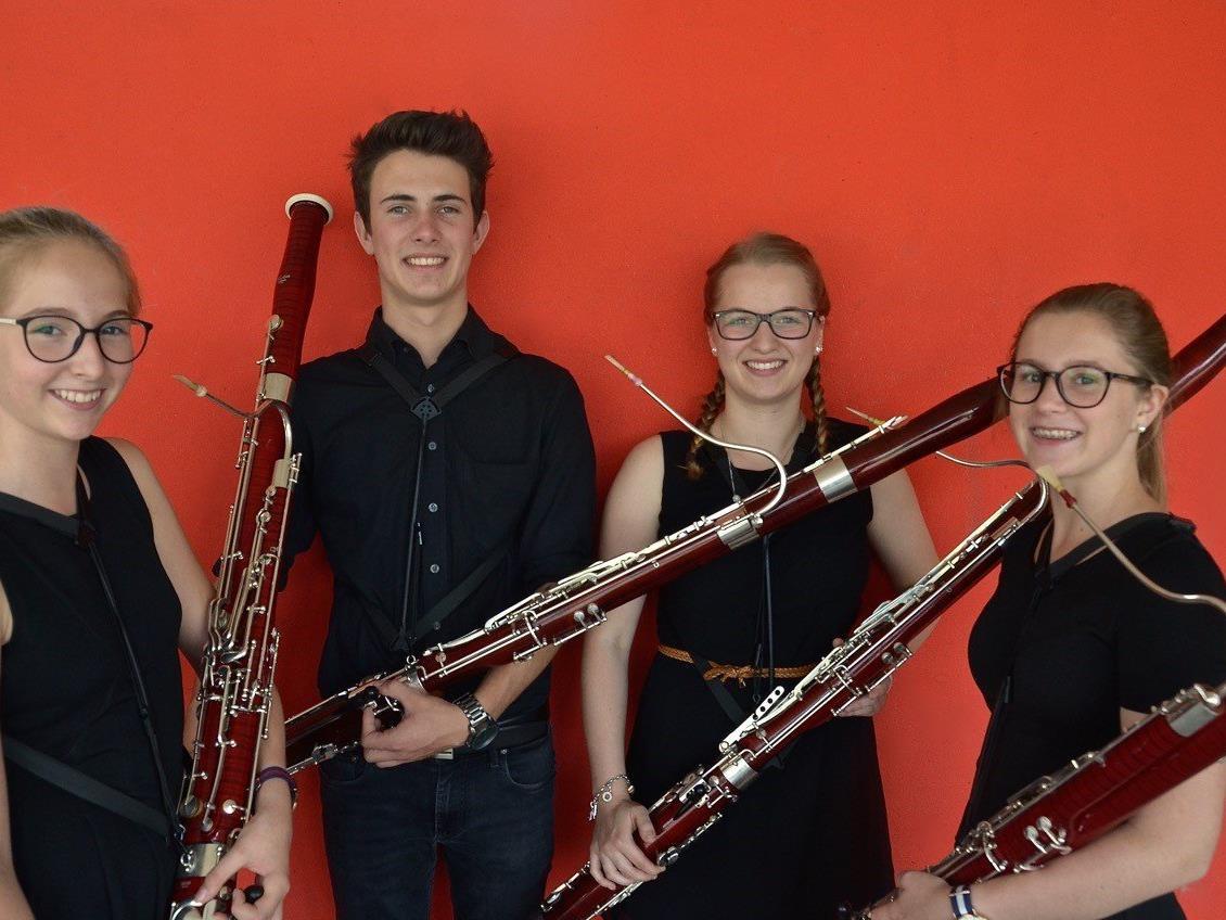 Das Ensemble mit Raphaela Robosch, Philipp Wolf, Anja Niederwolfsgruber und Johanna Bilgeri erreichte die höchste Punktezahl.