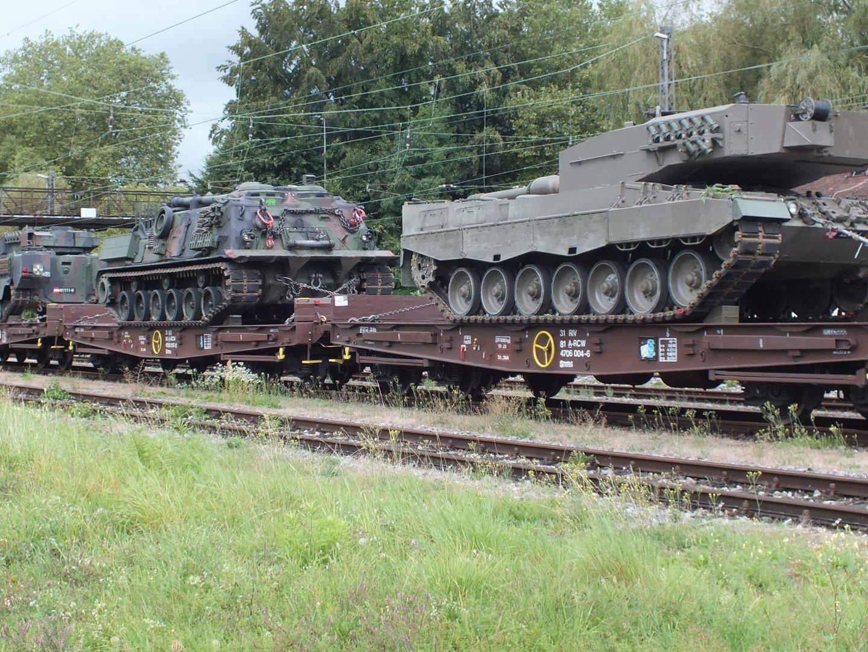 Die drei Panzer, die seit heute auf der herbstmesse in Dornbirn zusehen sind, haen auf ihrem Weg durch Deutschland die dortige Bundeswehr aufgeschreckt.