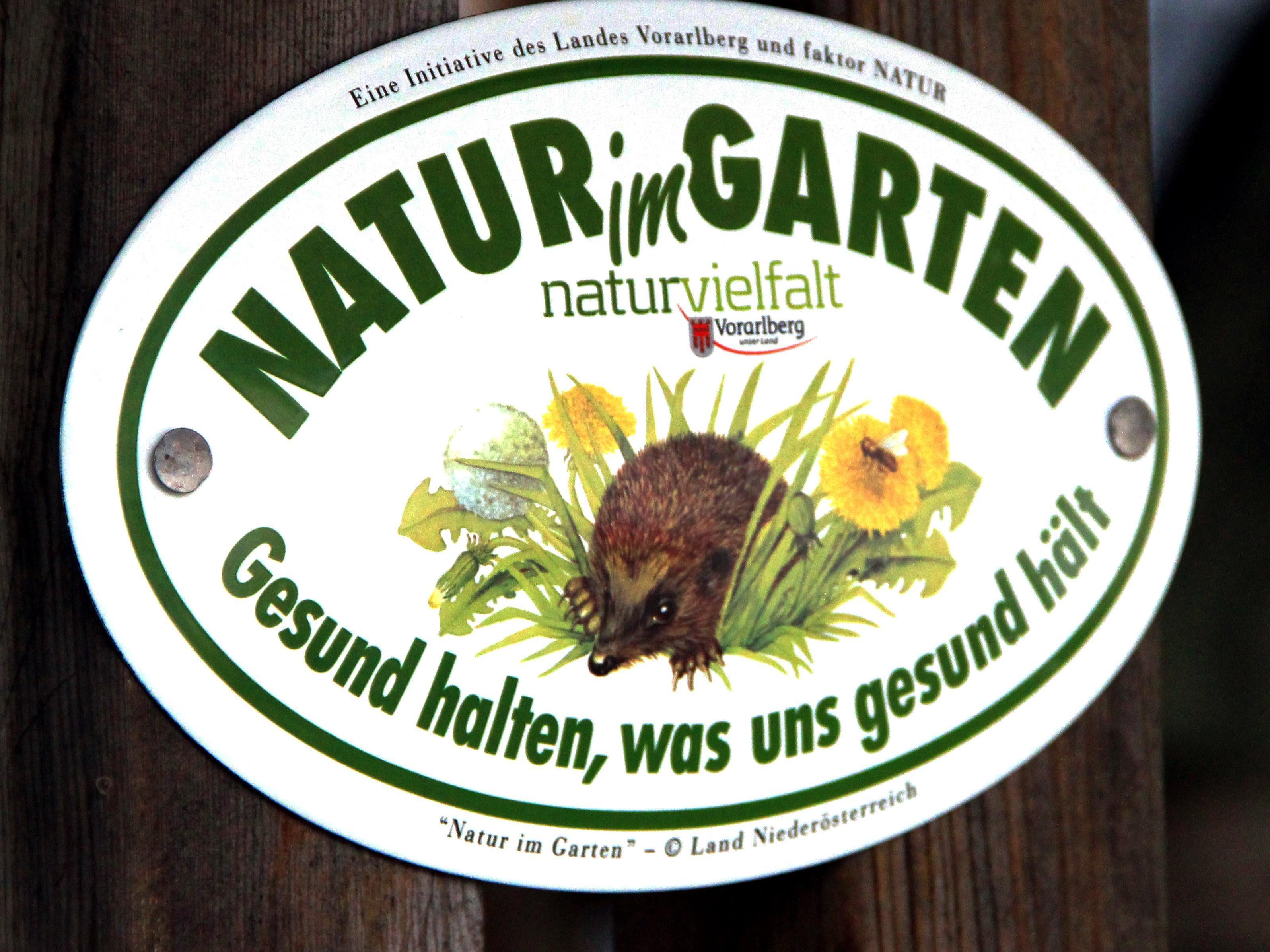 """Die """"Natur im Garten""""-Plakette"""