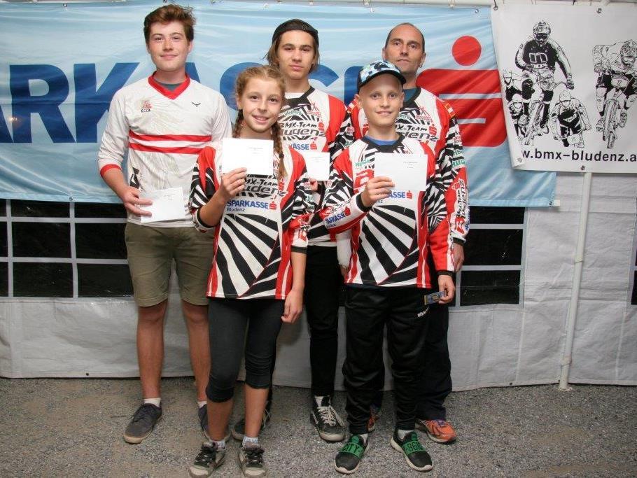 Die Top-5 des BMX-Vereinscup