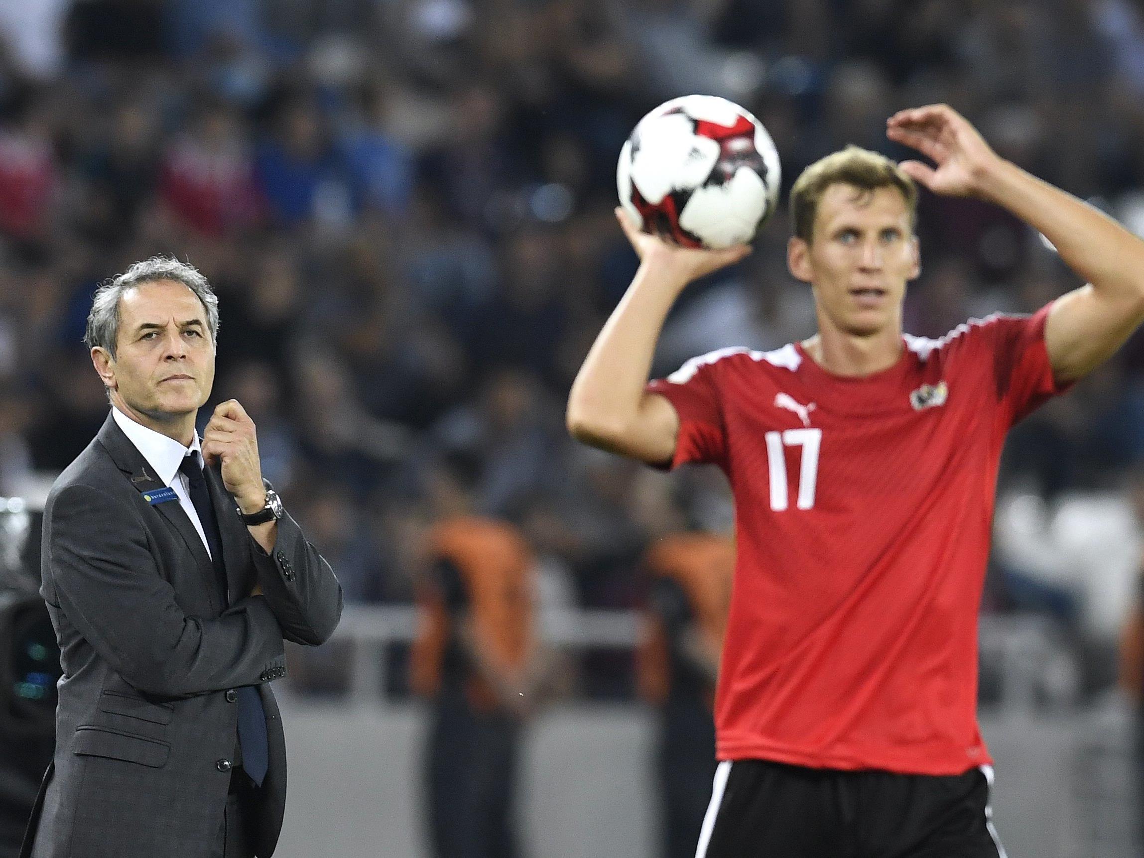 Österreich trifft in der WM-Quali am Donnerstag auf Wales.
