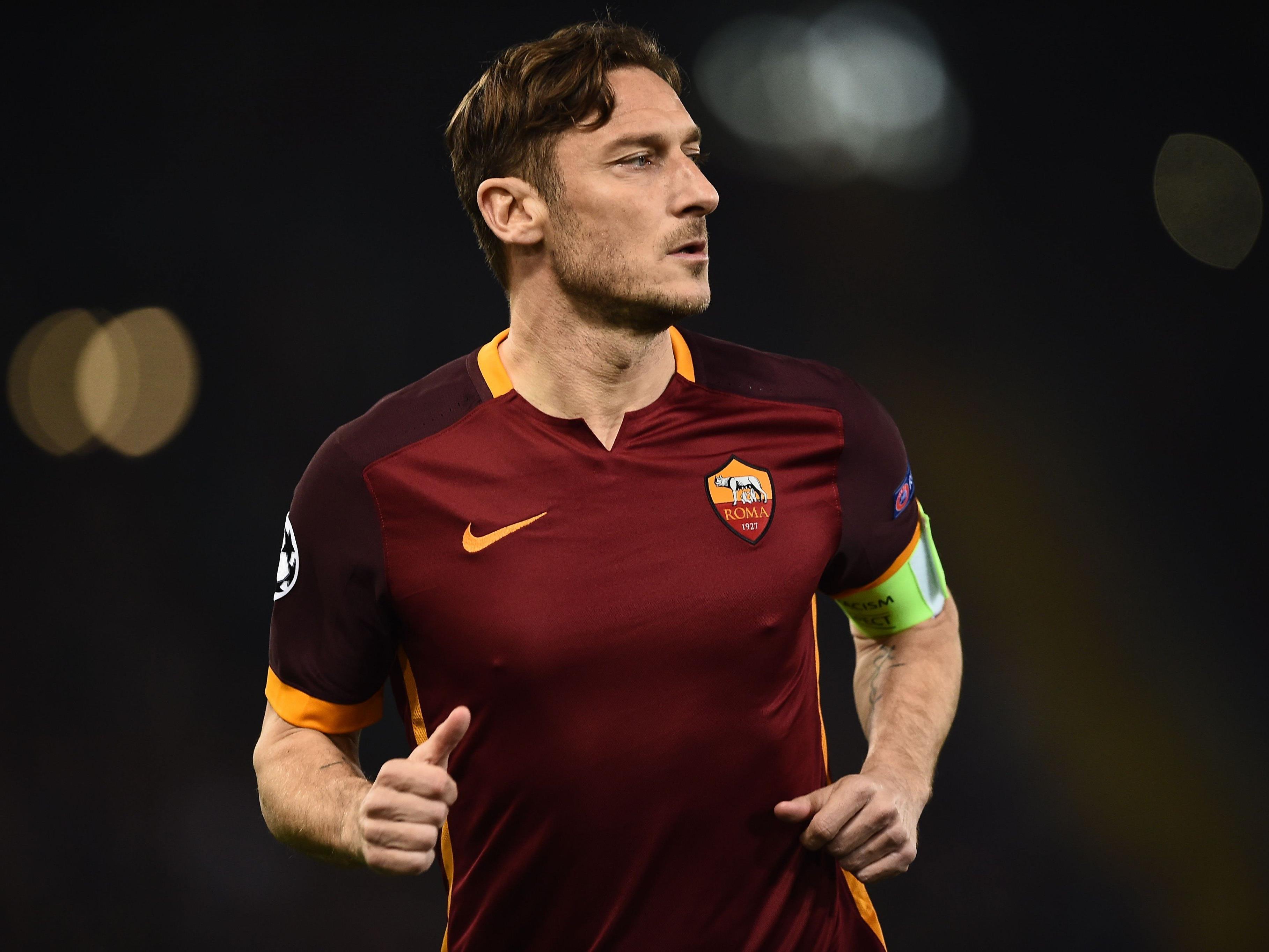 Francesco Totti, die noch aktive Legende der AS Roma.