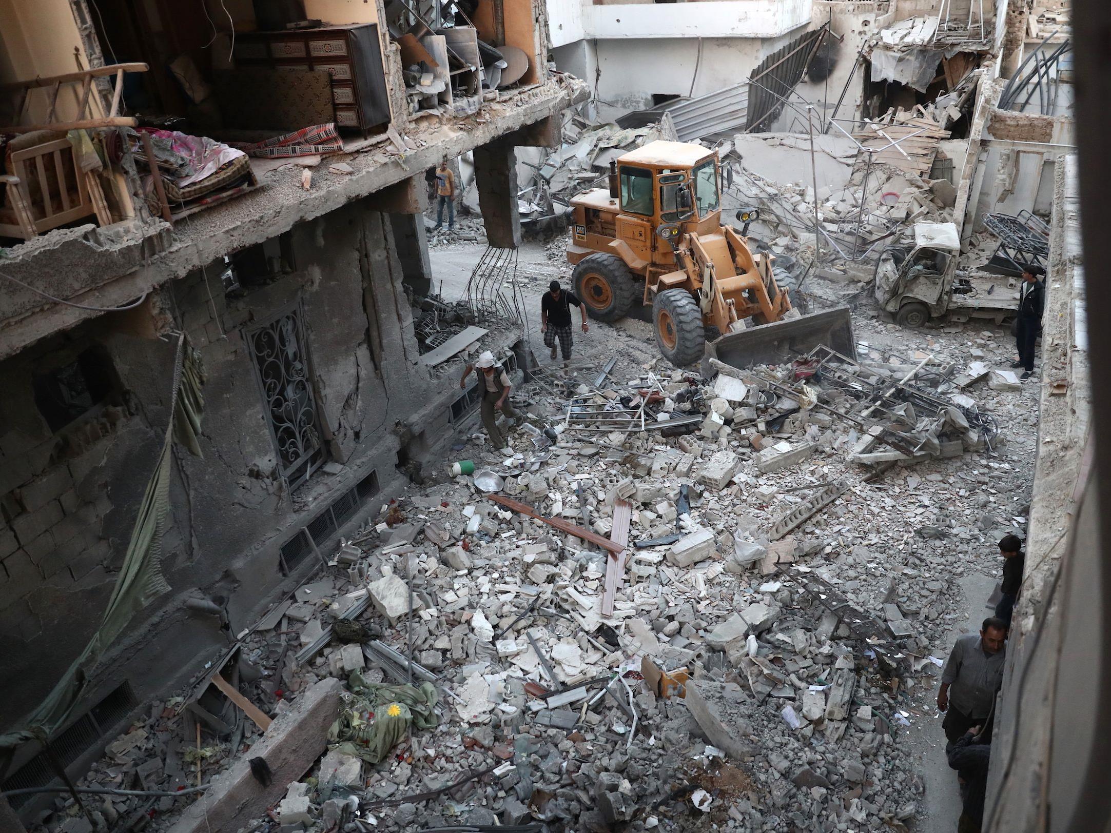 Ein Bild der Zerstörung: Die syrische Stadt Aleppo.