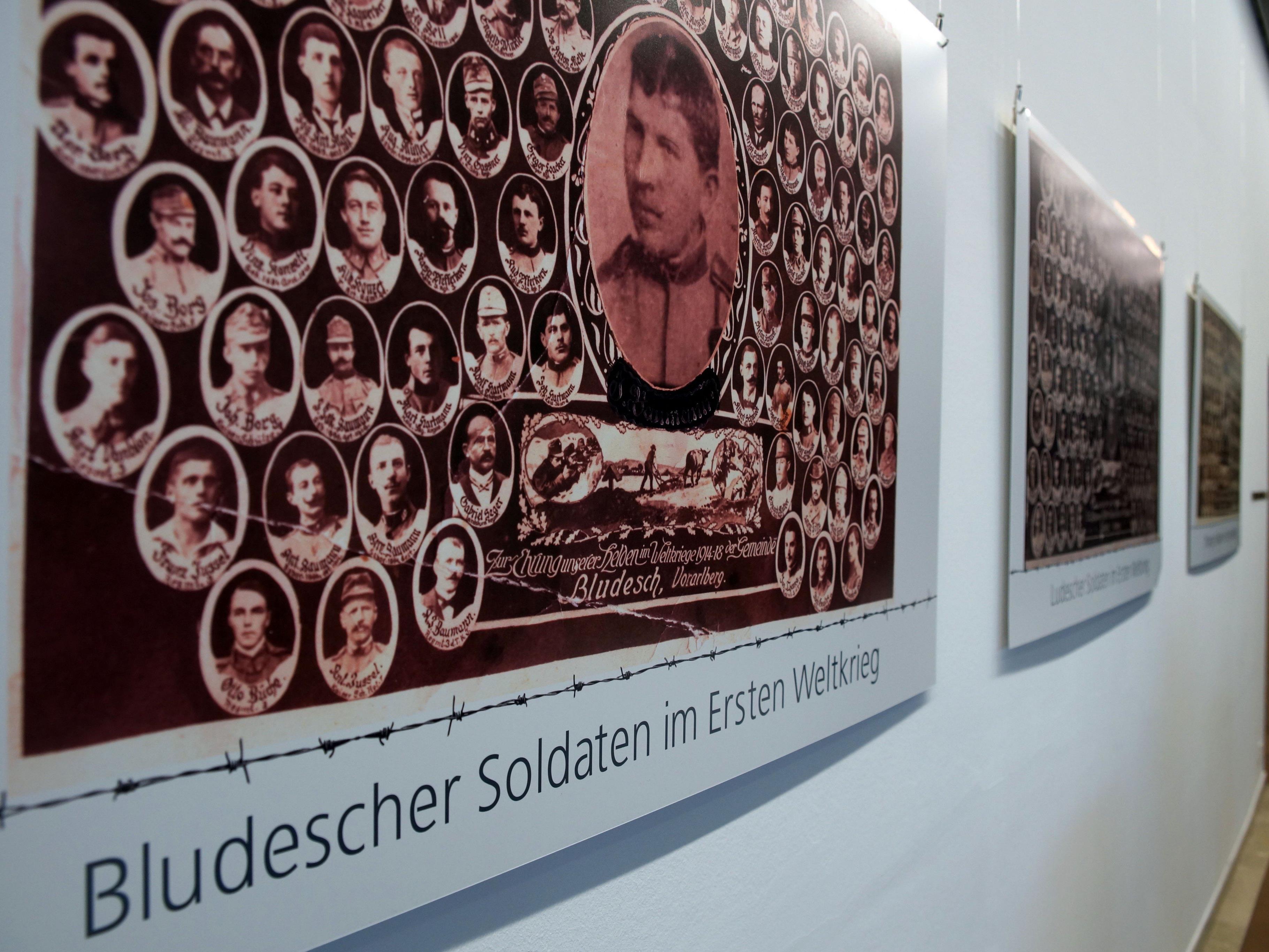"""Die Ausstellung """"Blumenegg im Ersten Weltkrieg"""" im Foyer des Vorarlberger Landtags wurde eröffnet."""