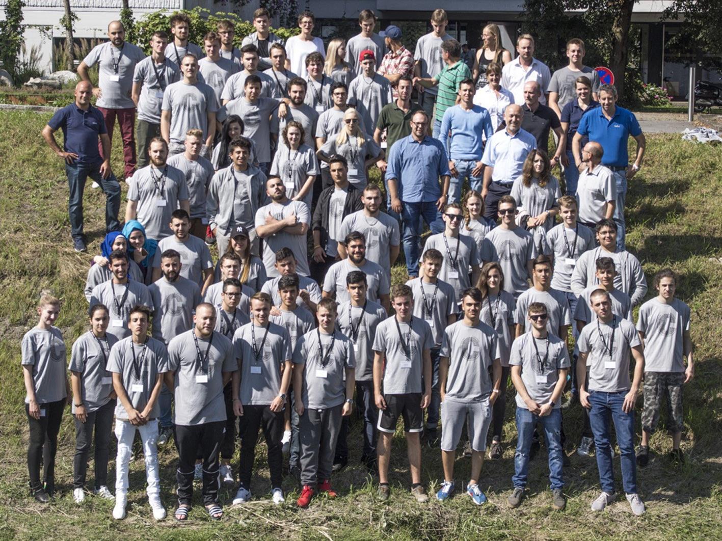 Derzeit werden 82 Lehrlinge in 13 Collini-Unternehmensstandorten ausgebildet.