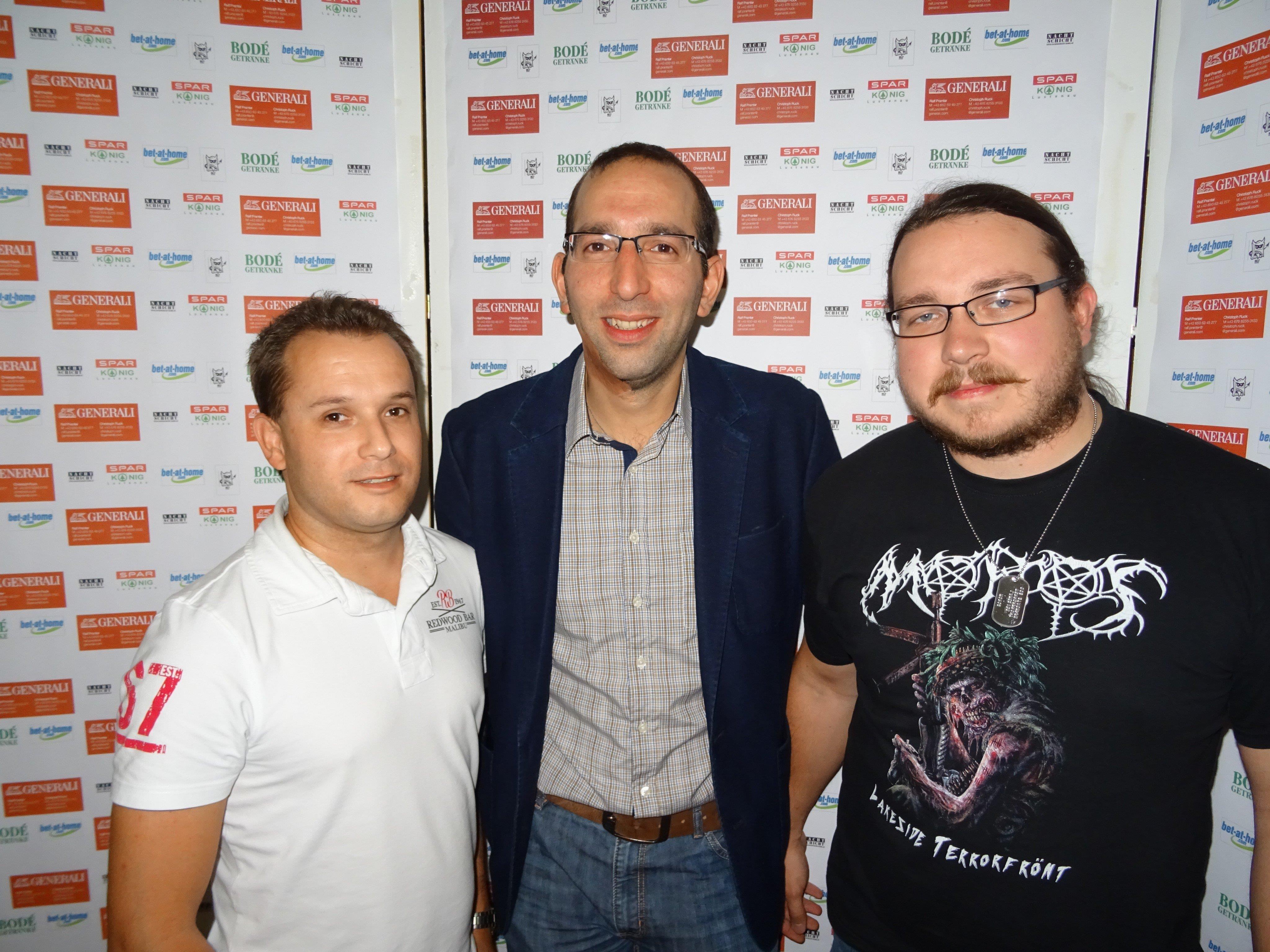Das Siegerfoto (v.l.n.r.): Thomas Metzler, Saban Hacioglu, Christian Stampfer