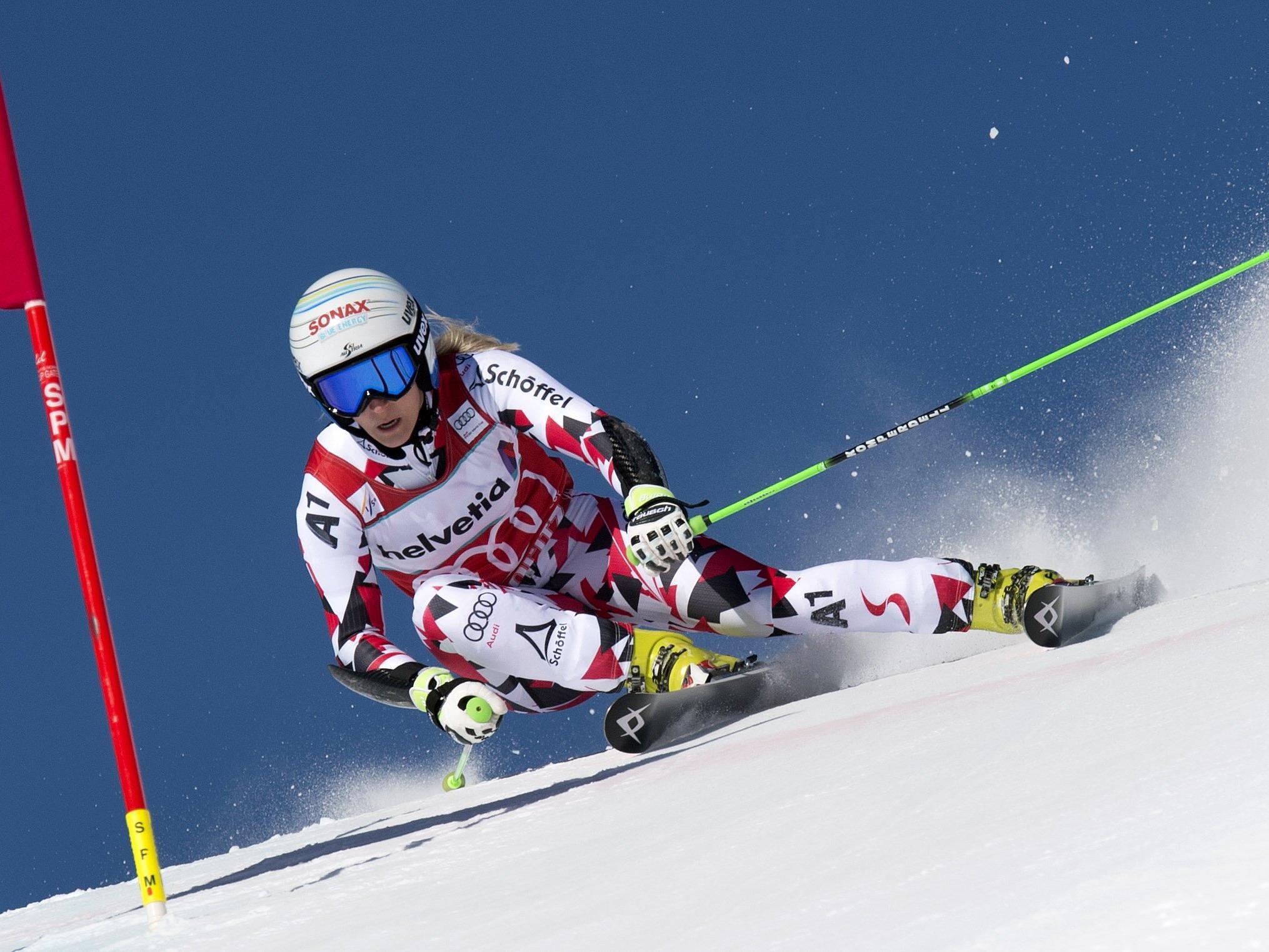 Eva-Maria Brem beim letztjährigen Weltcup-Finale.