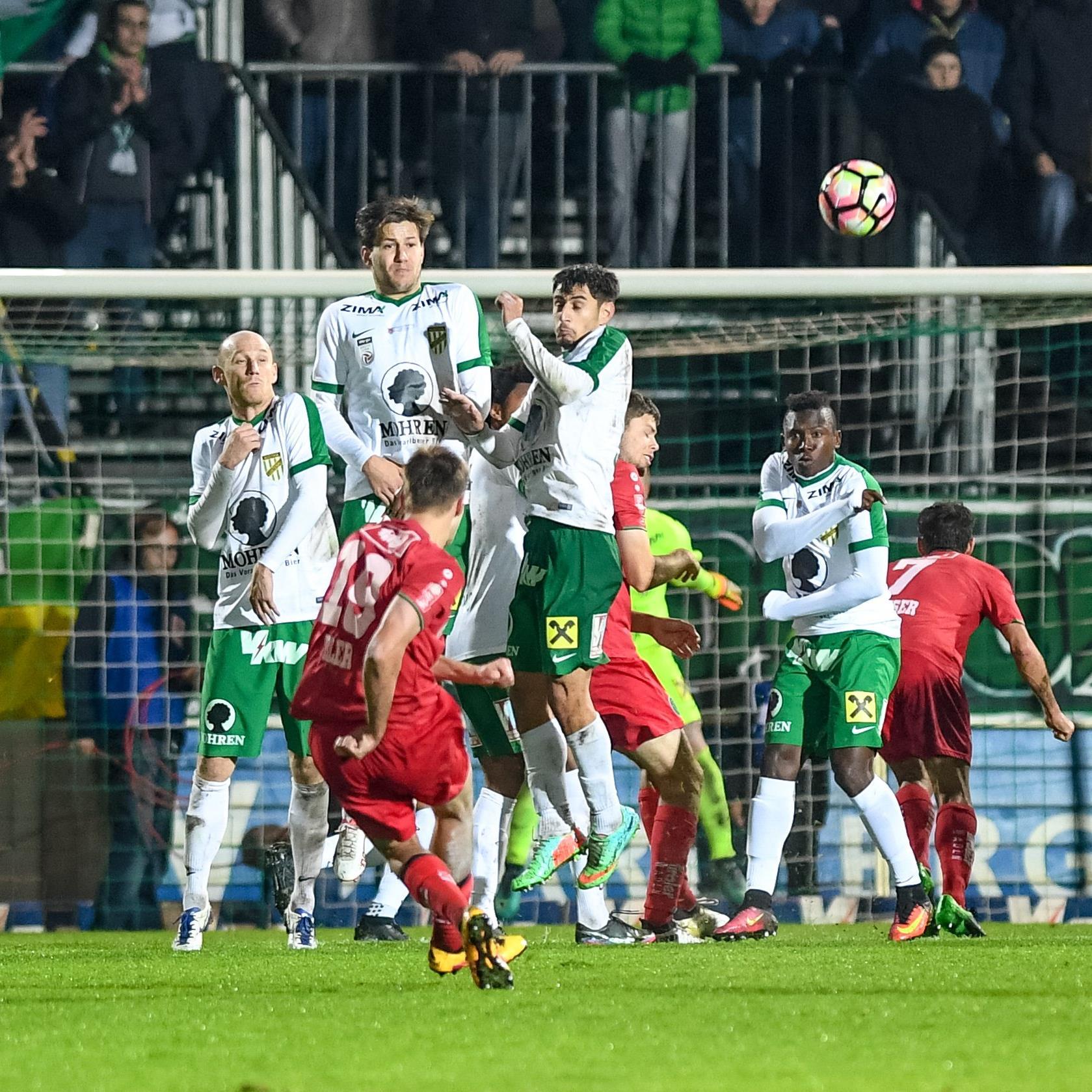 Der Austria gelang auch gegen Wacker Innsbruck kein Heimsieg.