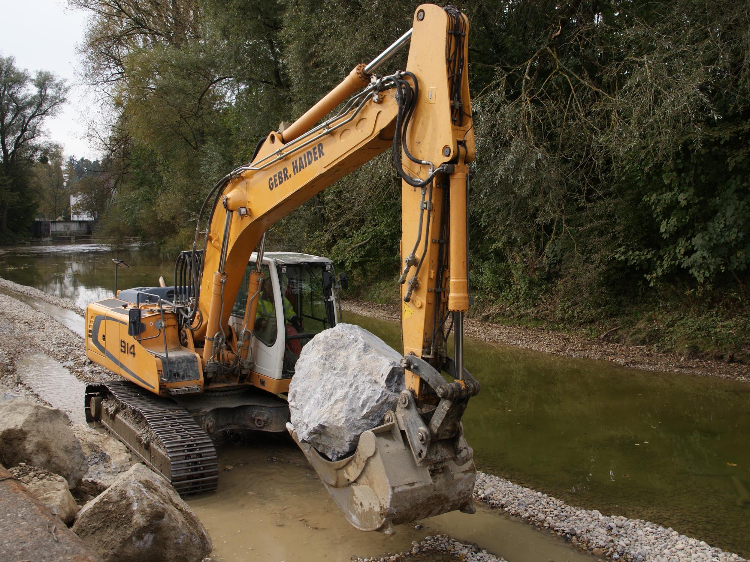 Baustart Hochwasserschutz Leiblach