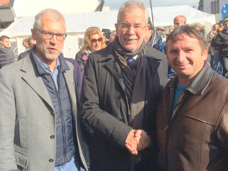 Dr. Alexander van der Bellen  mit NR Harald Walser und Willi Witzemann