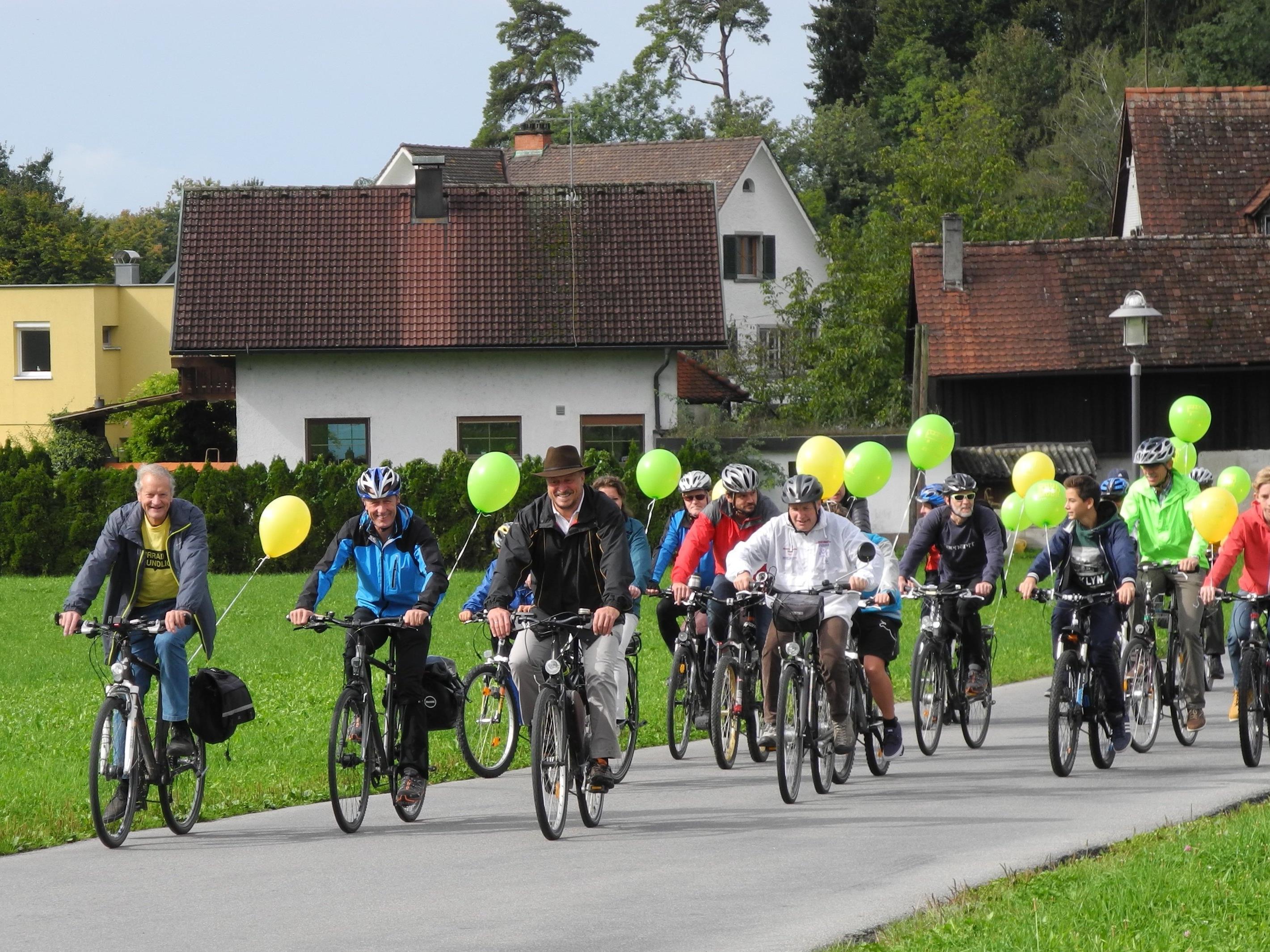 Einladung zur Abschlussveranstaltung mit Preisverlosung des RADIUS Fahrrad-Wettbewerbes 2016 im Leiblachtal.