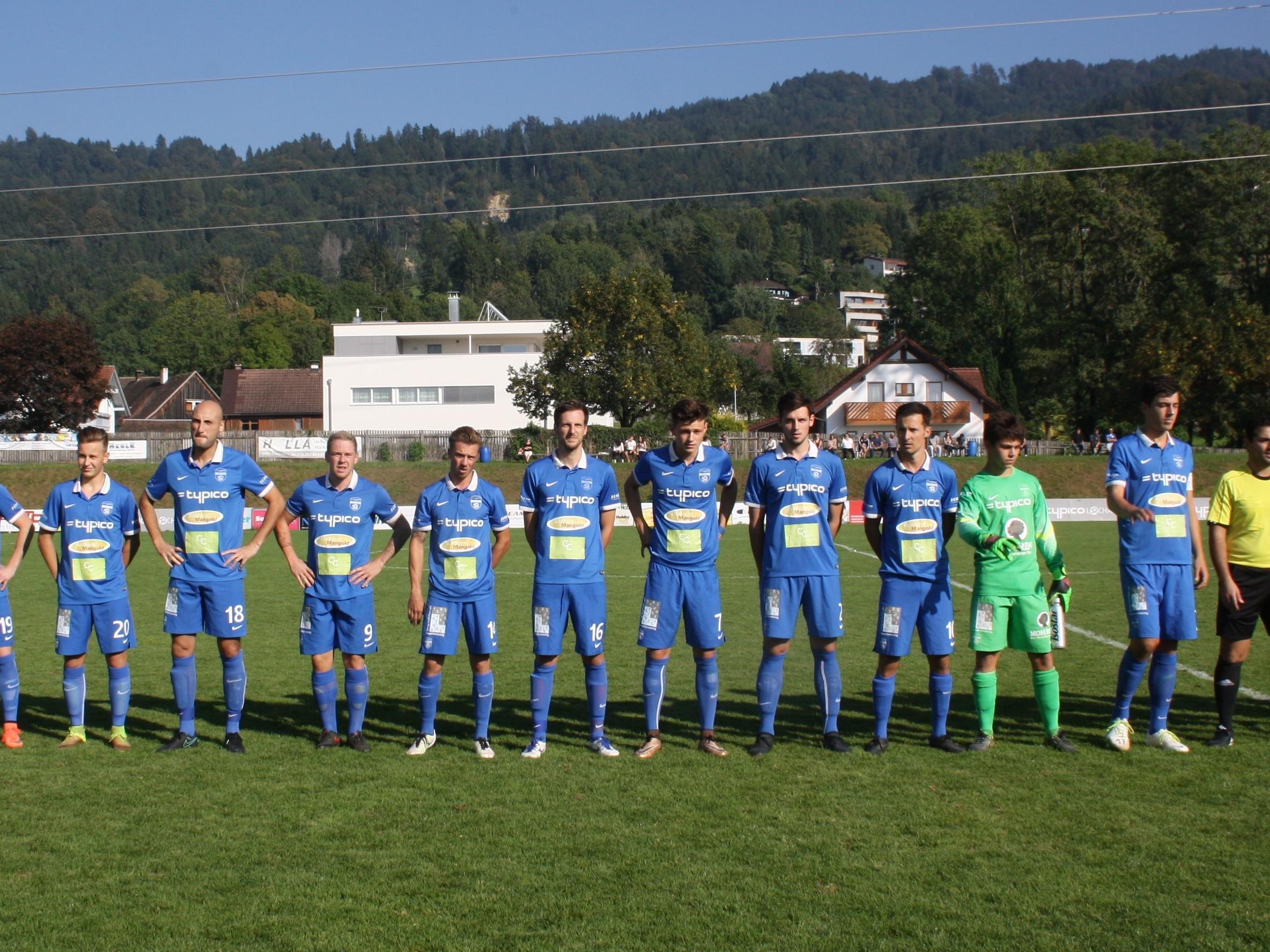 Am Samstag empfängt der SV Typico Lochau (Bild) im Heimspiel das starke Team aus Scharzach. Spielbeginn ist um 16 Uhr.
