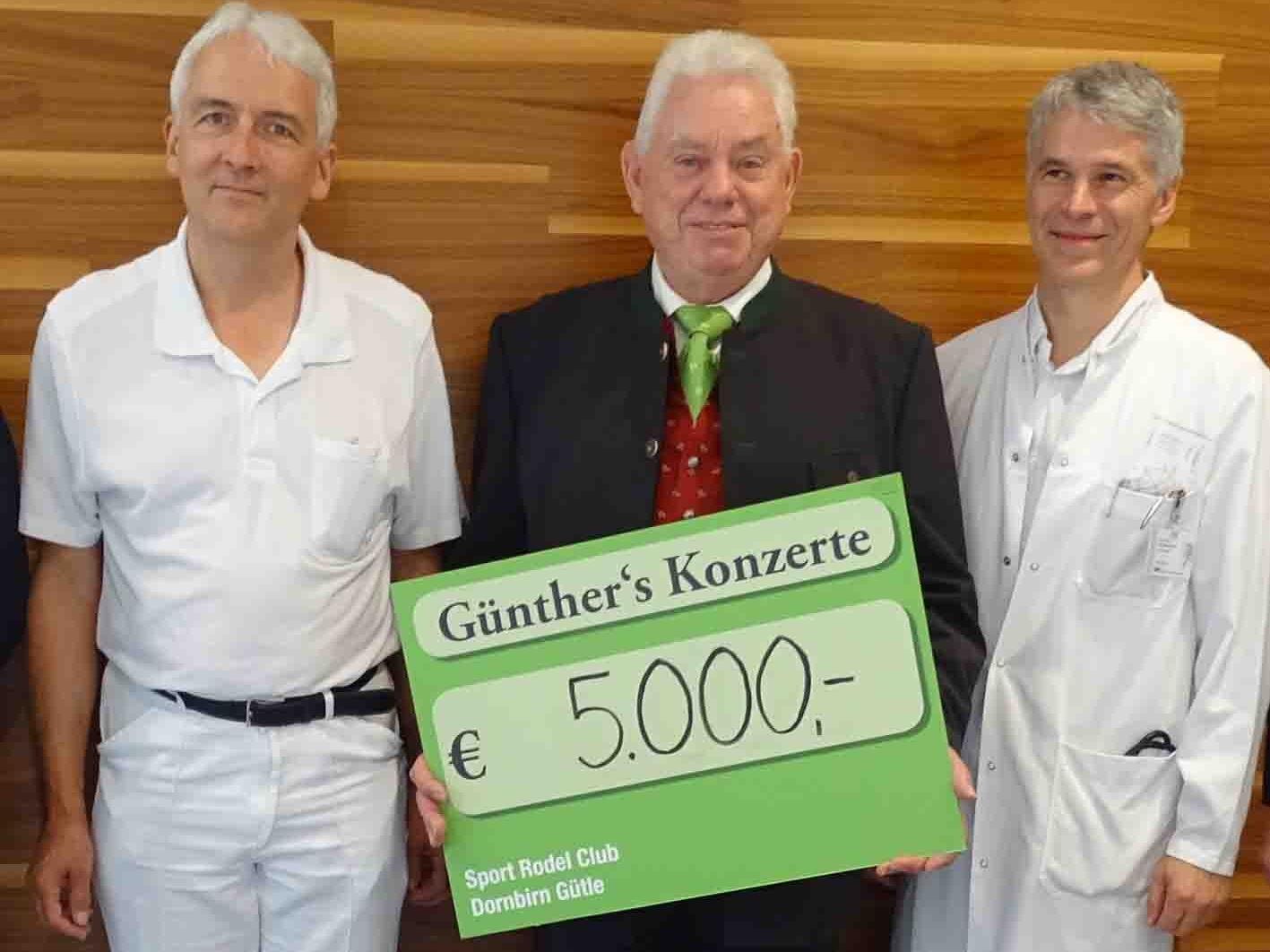 Dr. Otto Gehmacher, Hans Günther Lutz und Prim. Günter Höfle (v.l.)