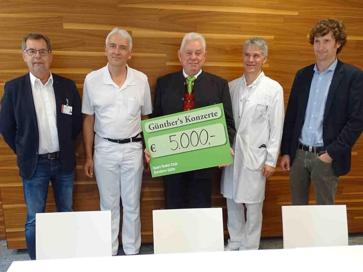 VD Dietmar Hartner, Dr. Otto Gehmacher, Hans Günther Lutz, Prim. Günter Höfle und PD Arno Geiger