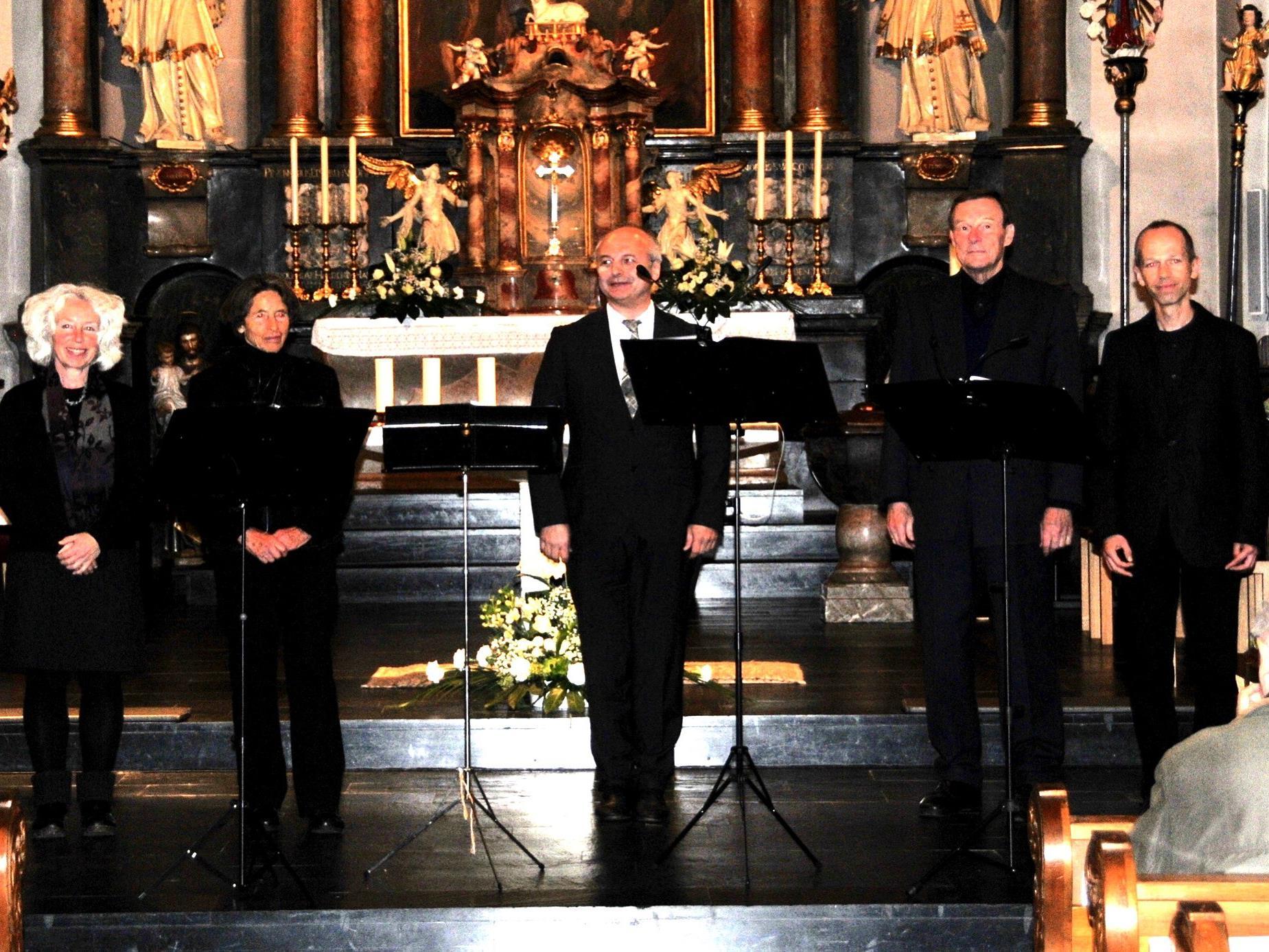 Würdiger Abschluss der Bludescher Orgelkonzerte mit dem Quartett Vocaliter und dem Organisten Johannes Ebenbauer