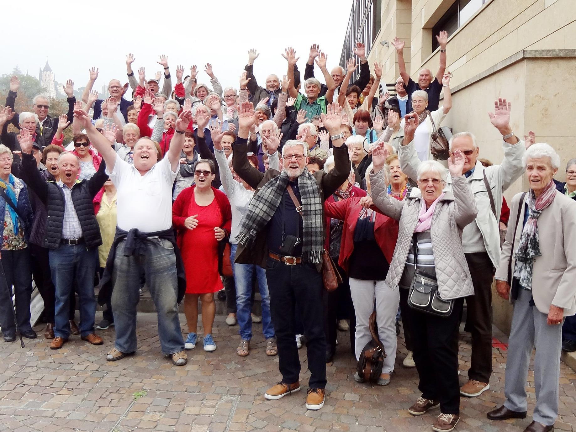 Beste Stimmung herrschte bei der Musikreise des Seniorenbundes im Südtirol