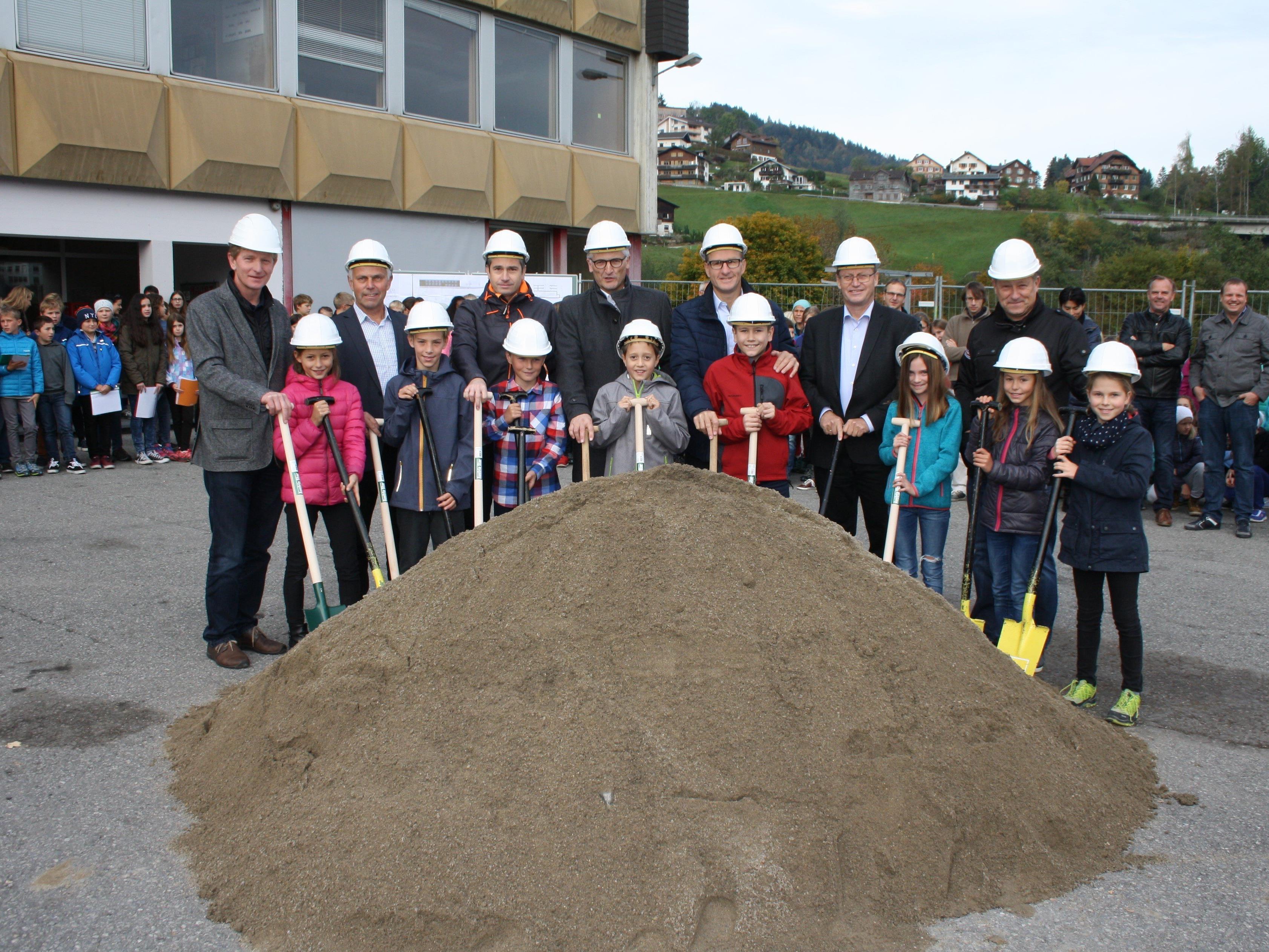 Die Egger Mittelschule wird neu gebaut.