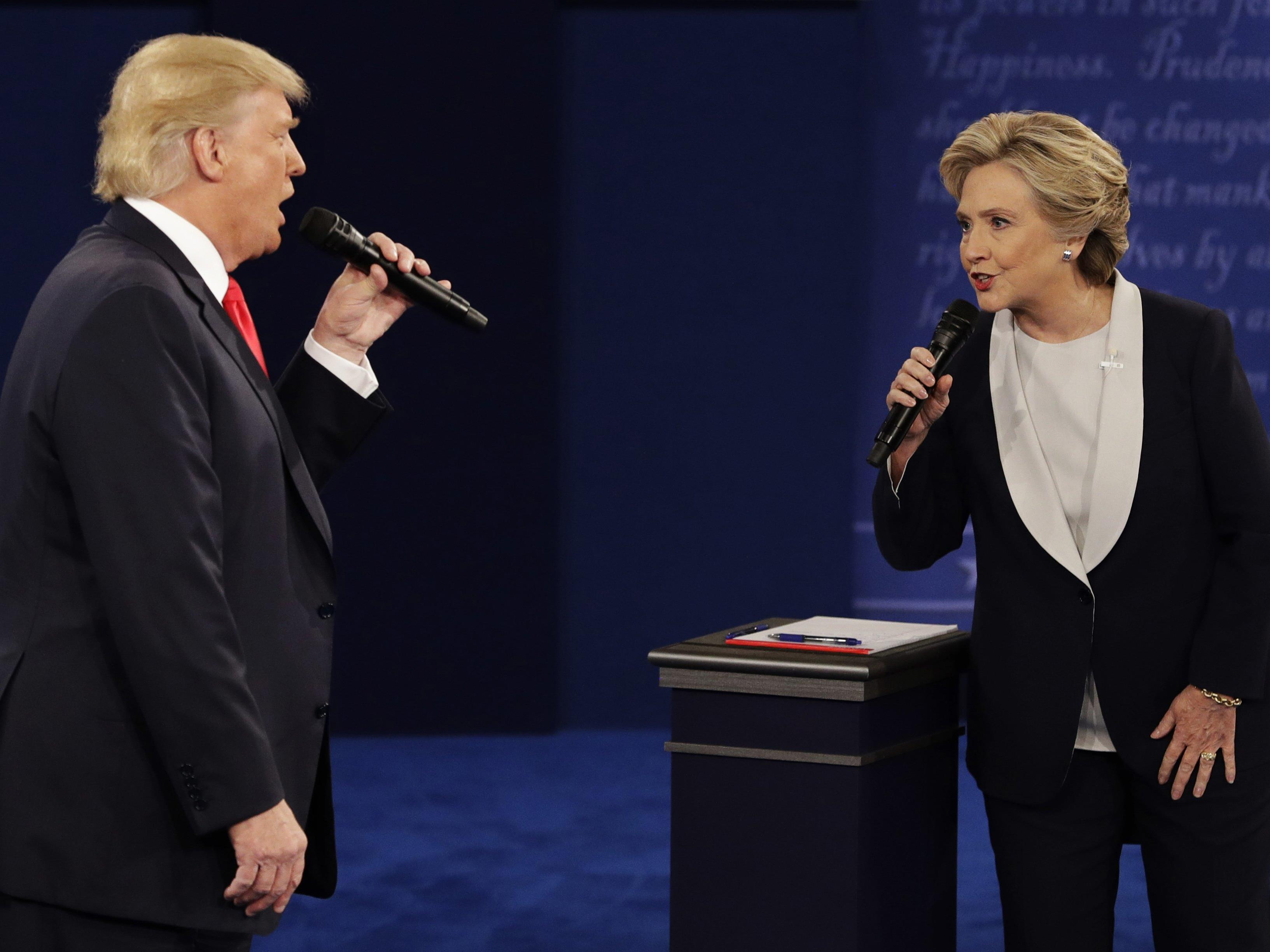 Selbst Donald Trumps Parteifreunde glauben mehrheitlich an einen Sieg Clintons.