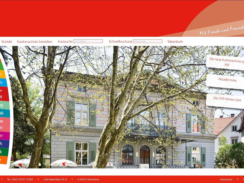 Neue Homepage der VHS Hohenems
