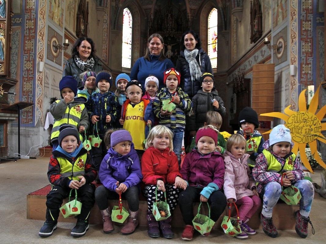 Der Apfel stand im Kindergarten Silbertal drei Wochen lang im Mittelpunkt.