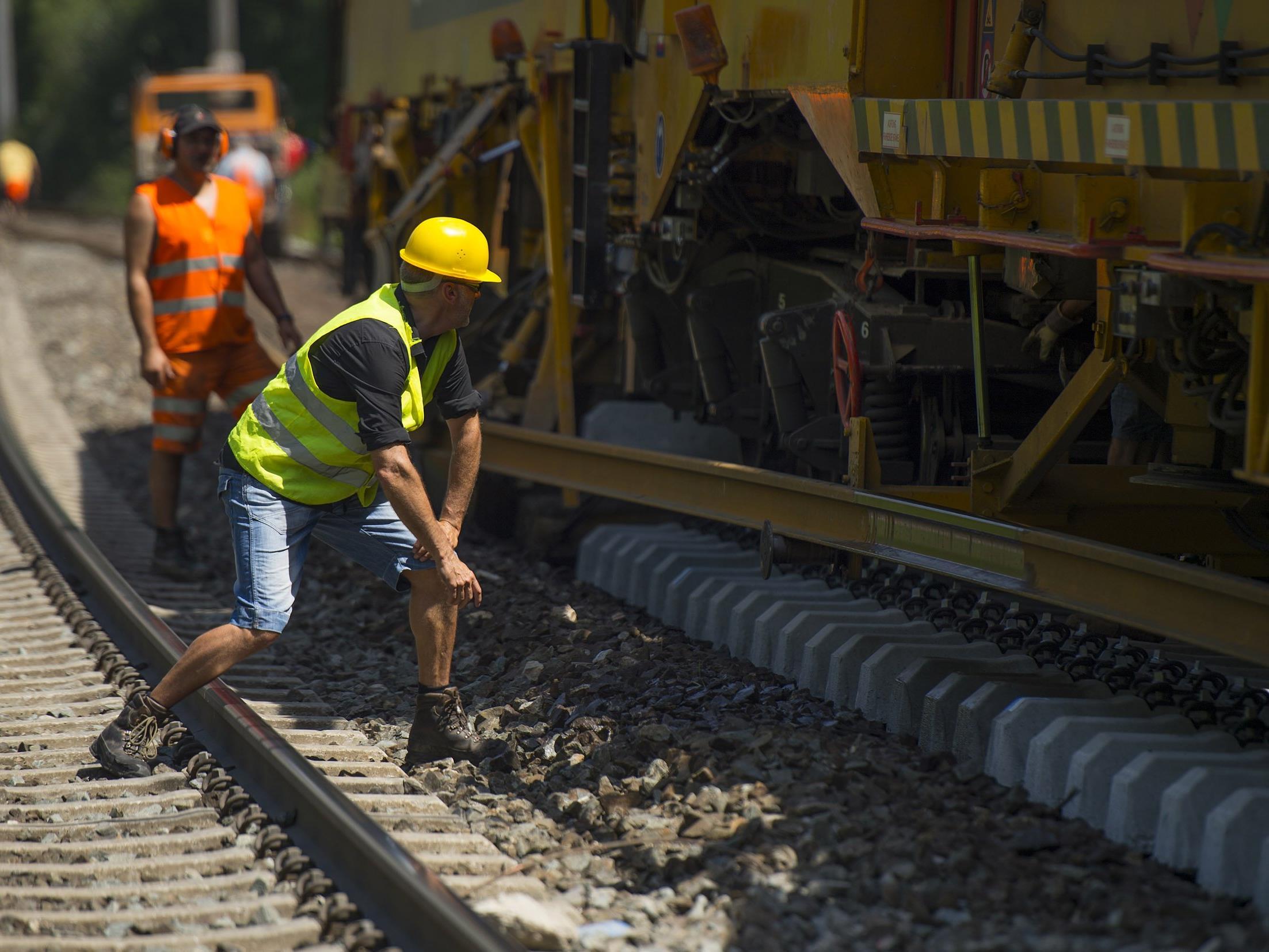 Intensive Bauarbeiten an den Weichen am Bahnhof Lindau HBF
