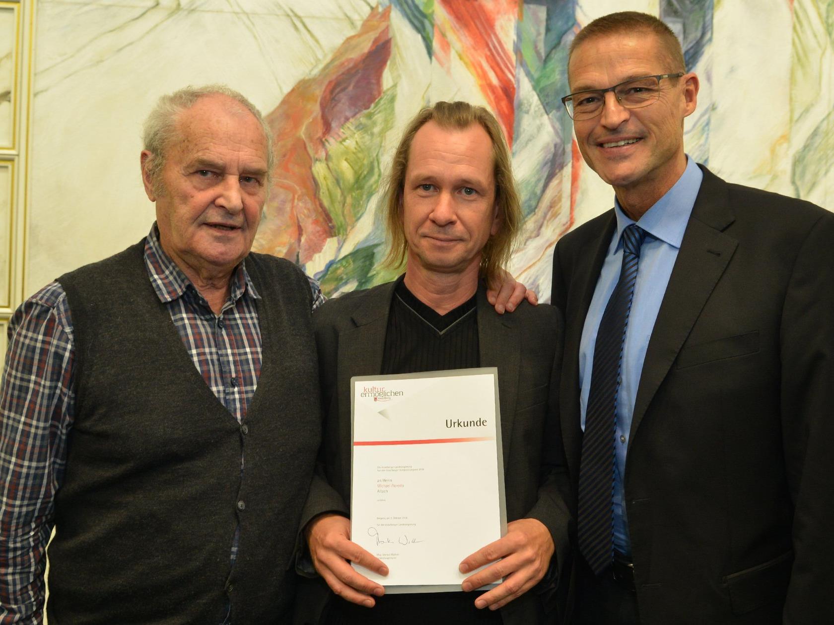 v. l. Gerold Amann, Michael Floredo, LR Dr. Christian Bernhard