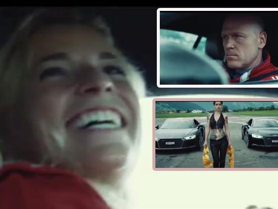 Lara Gut gegen Didier Cuche im Audi Sport R8.