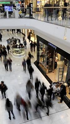 Temporäre Geschäfte erobern auch gut frequentierte Einkaufsbereiche