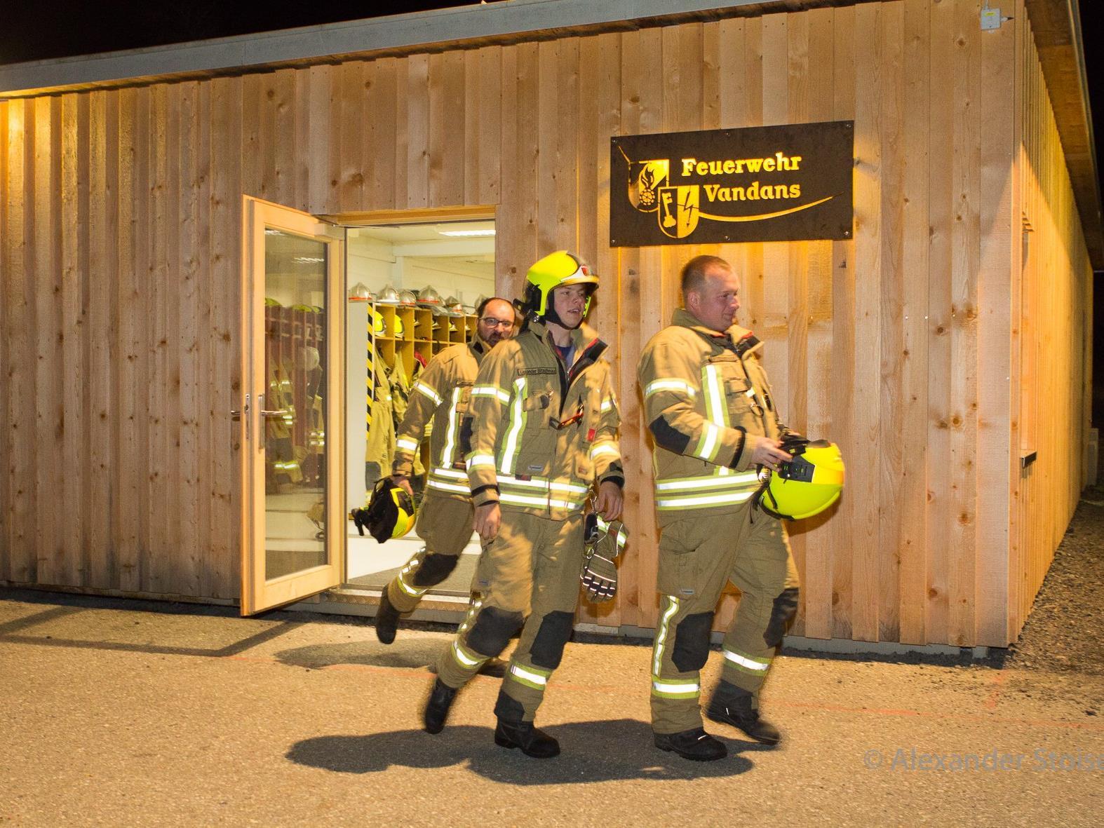 Für einen reibungslosen Einsatzbeginn sorgt der neue Mannschafftscontainer der Feuerwehr Vandans.