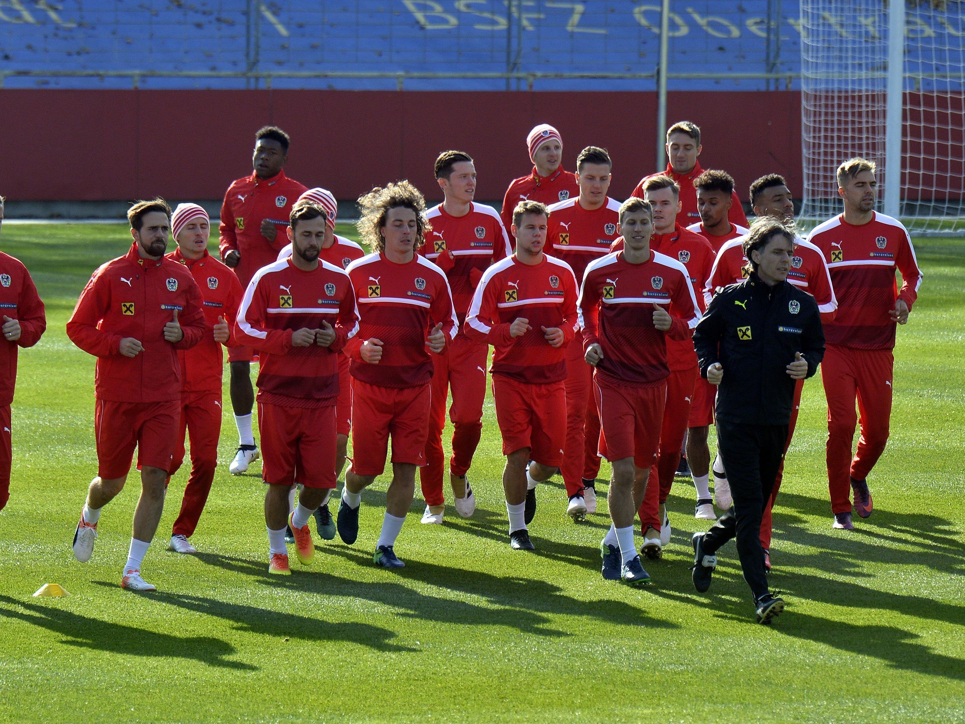 Das österreichische Nationalteam steht gegen Irland unter Zugzwang.