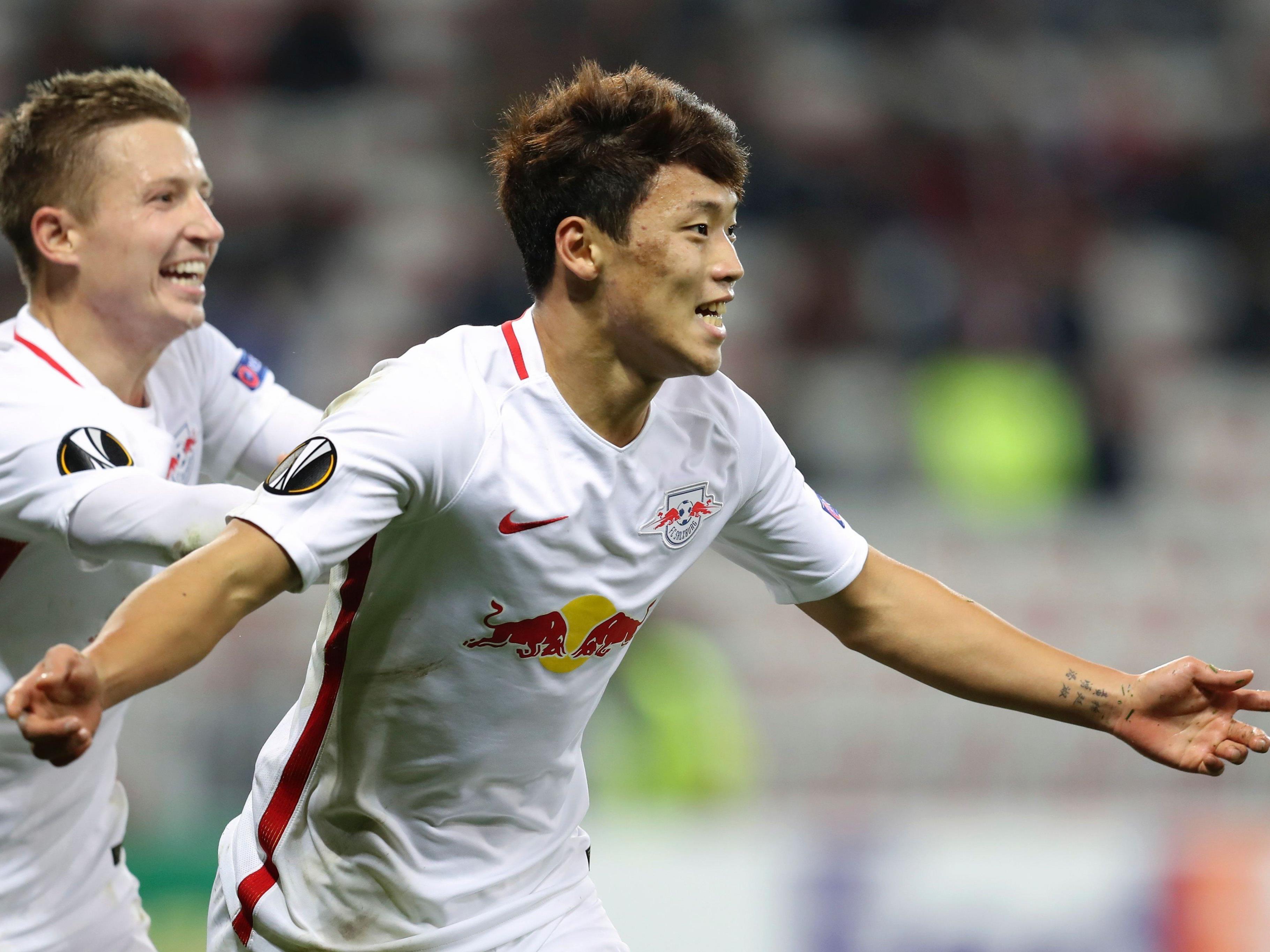 Hwang schoss Salzburg mit zwei Treffern zum Sieg.