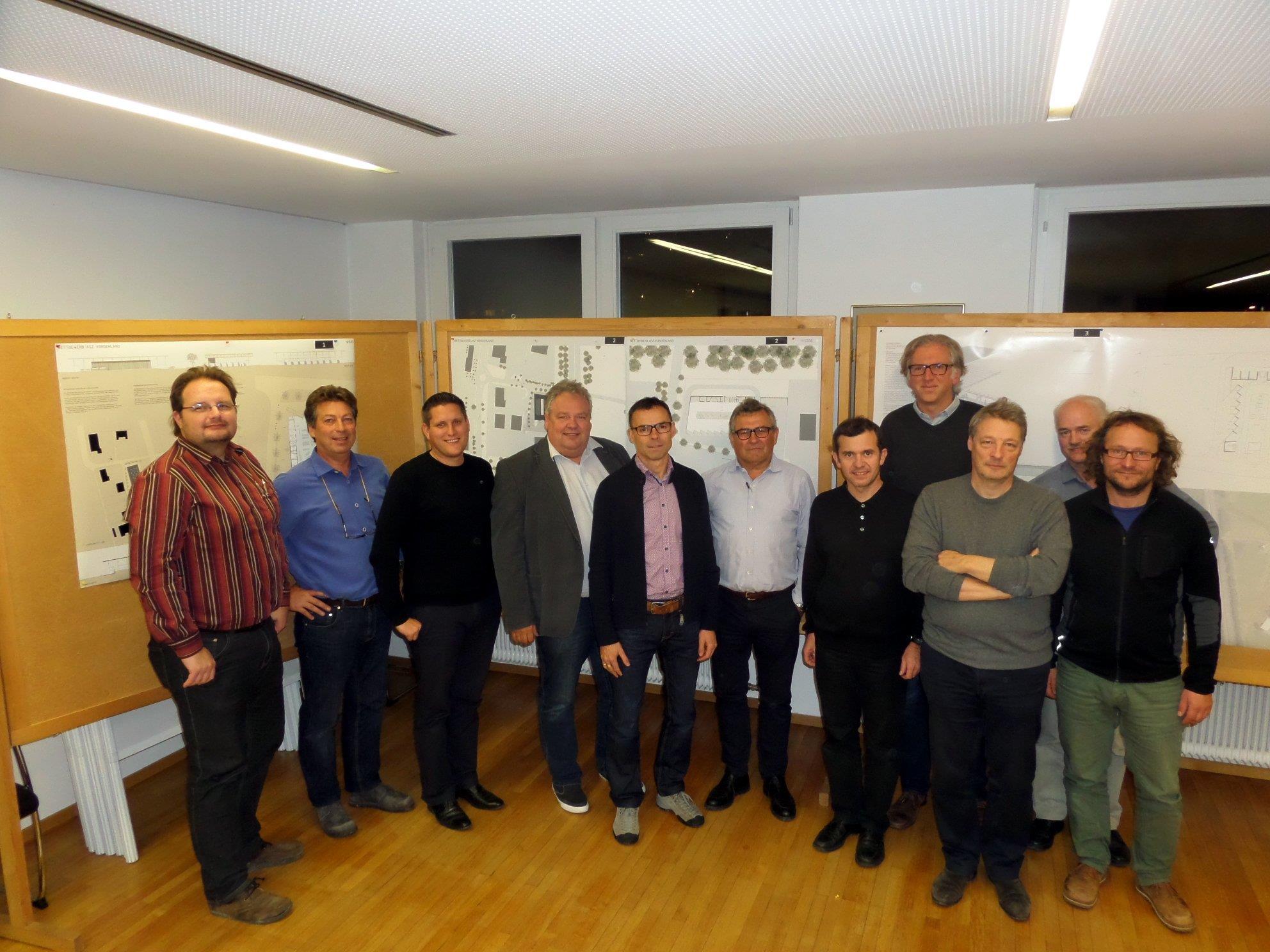 Preisgericht des Architekturwettbewerbs ASZ Vorderland (Regio Vorderland-Feldkirch).