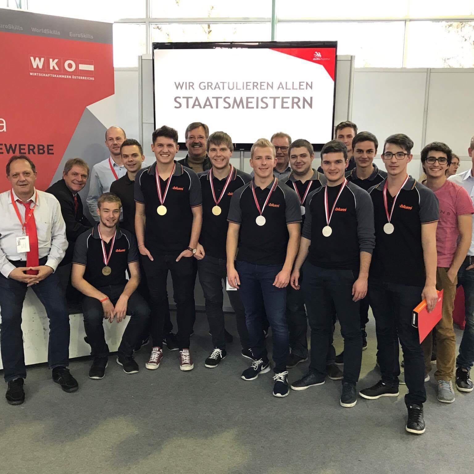 Das erfolgreiche Blum-Team: alle Teilnehmer landeten unter den Top 4.