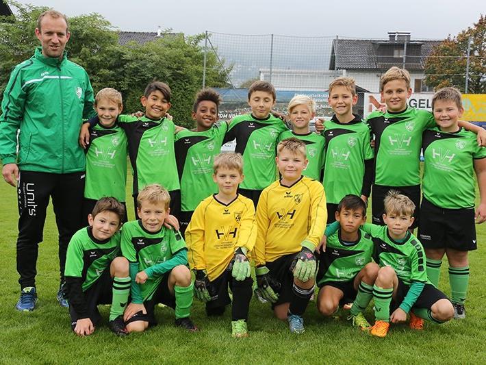 Die U11-Mannschaft des FC Renault Malin Sulz