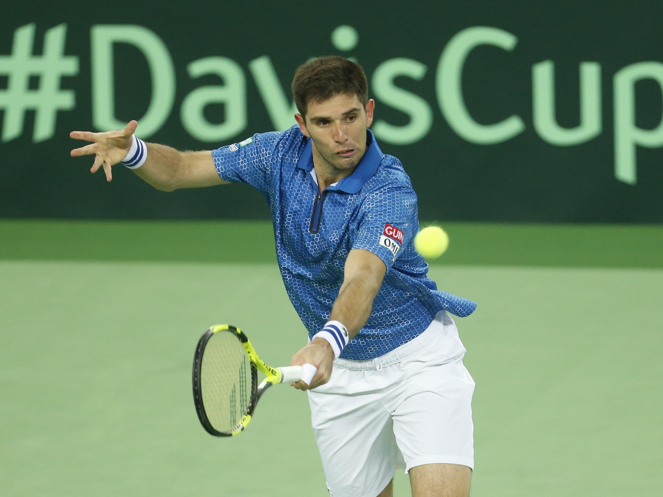 Federico Delbonis gewann mit Argentinien den Davis Cup.