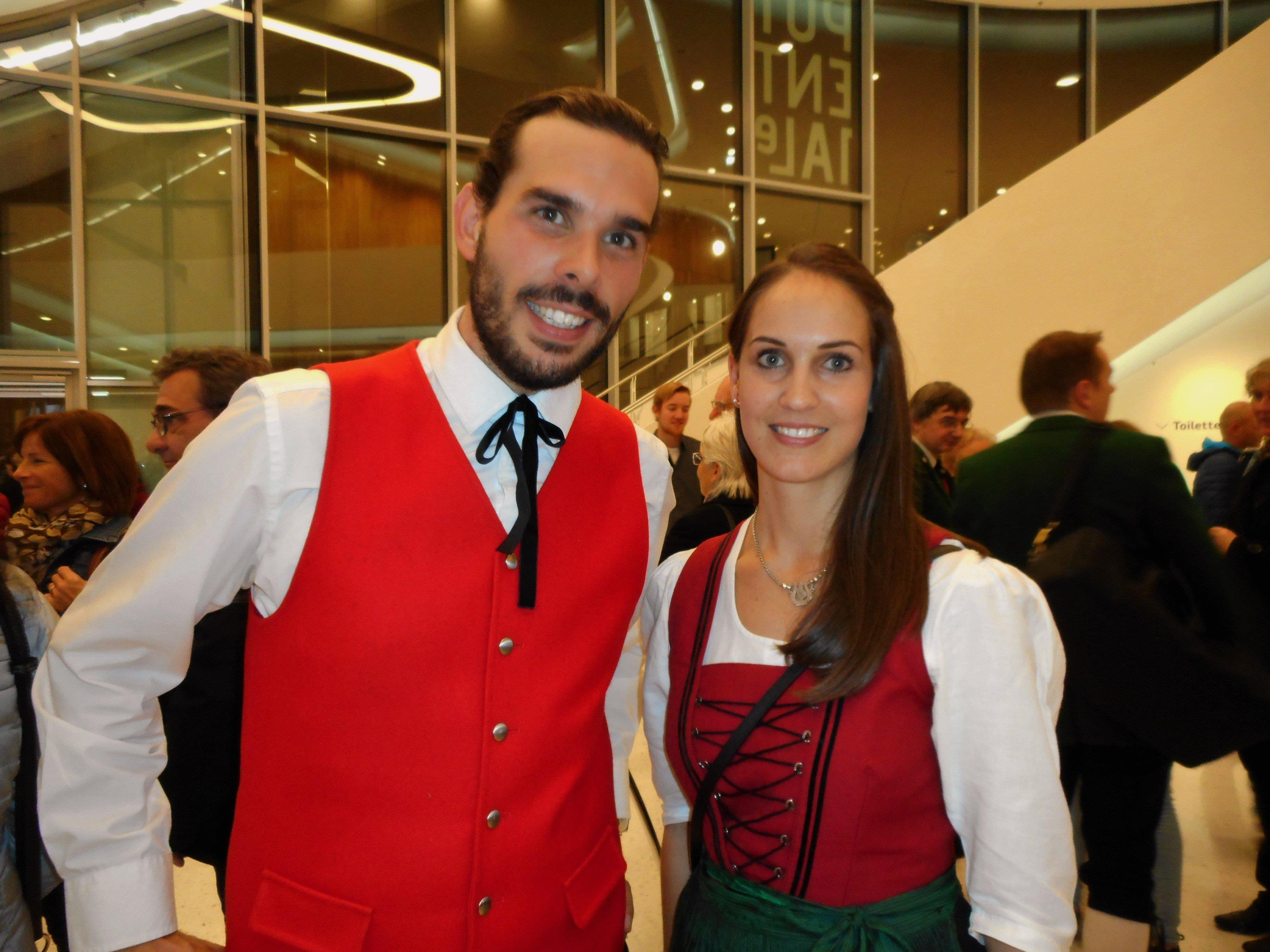 Kapellmeister Martin Pfeffer und Vereinsobfrau Melanie Obriejetan stehen für eine Blaskapelle von höchstem Niveau.
