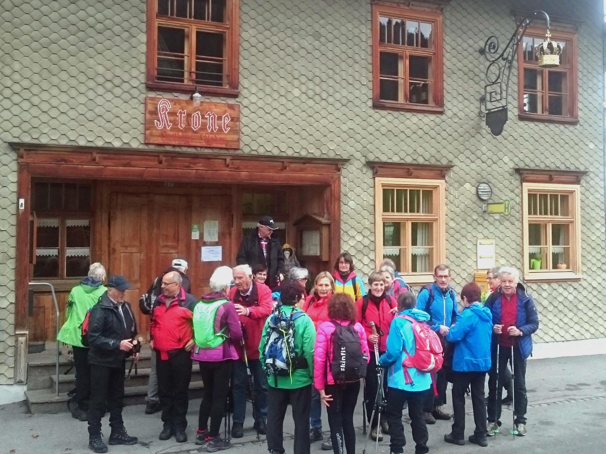 Wanderun Rad-Team per pedales von Thal nach Scheidegg