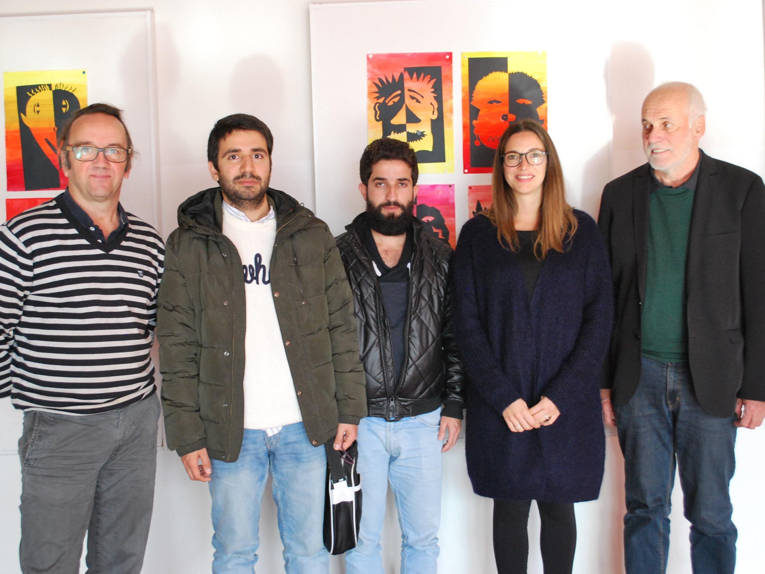 Workshop projektXchange: Markus Schelling, Omar, Mohammad, Stefanie Mäser, Manfred Hagen