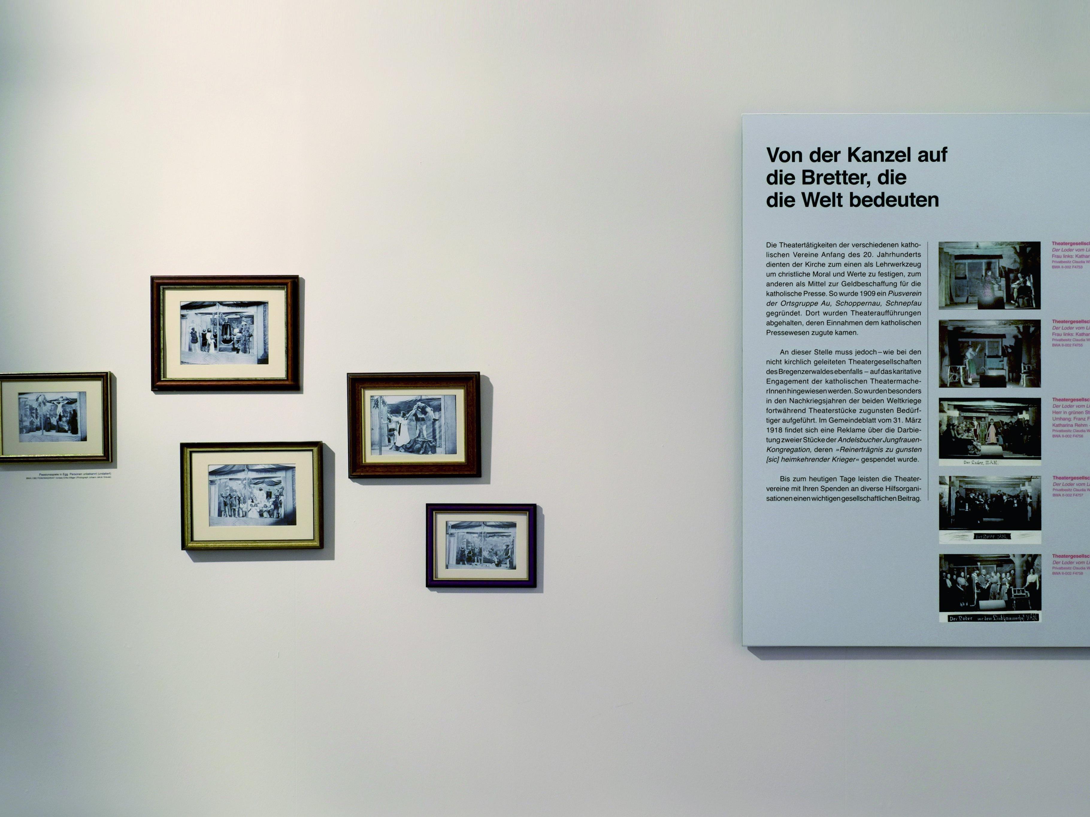 Die letzte Sonderausstellung widmete sich der 150jährigen Geschichte des Amateurtheaters im Bregenzerwald.