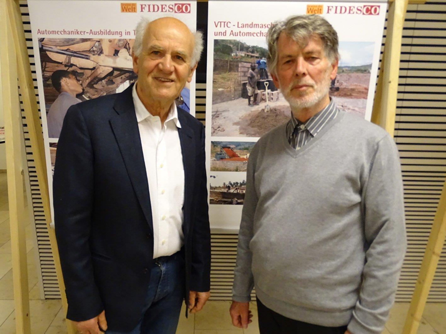 Hugo Ölz (r.) und Werner Ilg informierten über das FIDESCO-Projekt in Enugu.