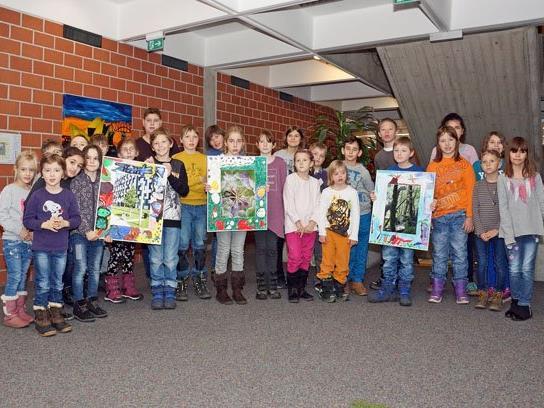 Ausstellung Rathaus – SchülerInnen des SPZ.