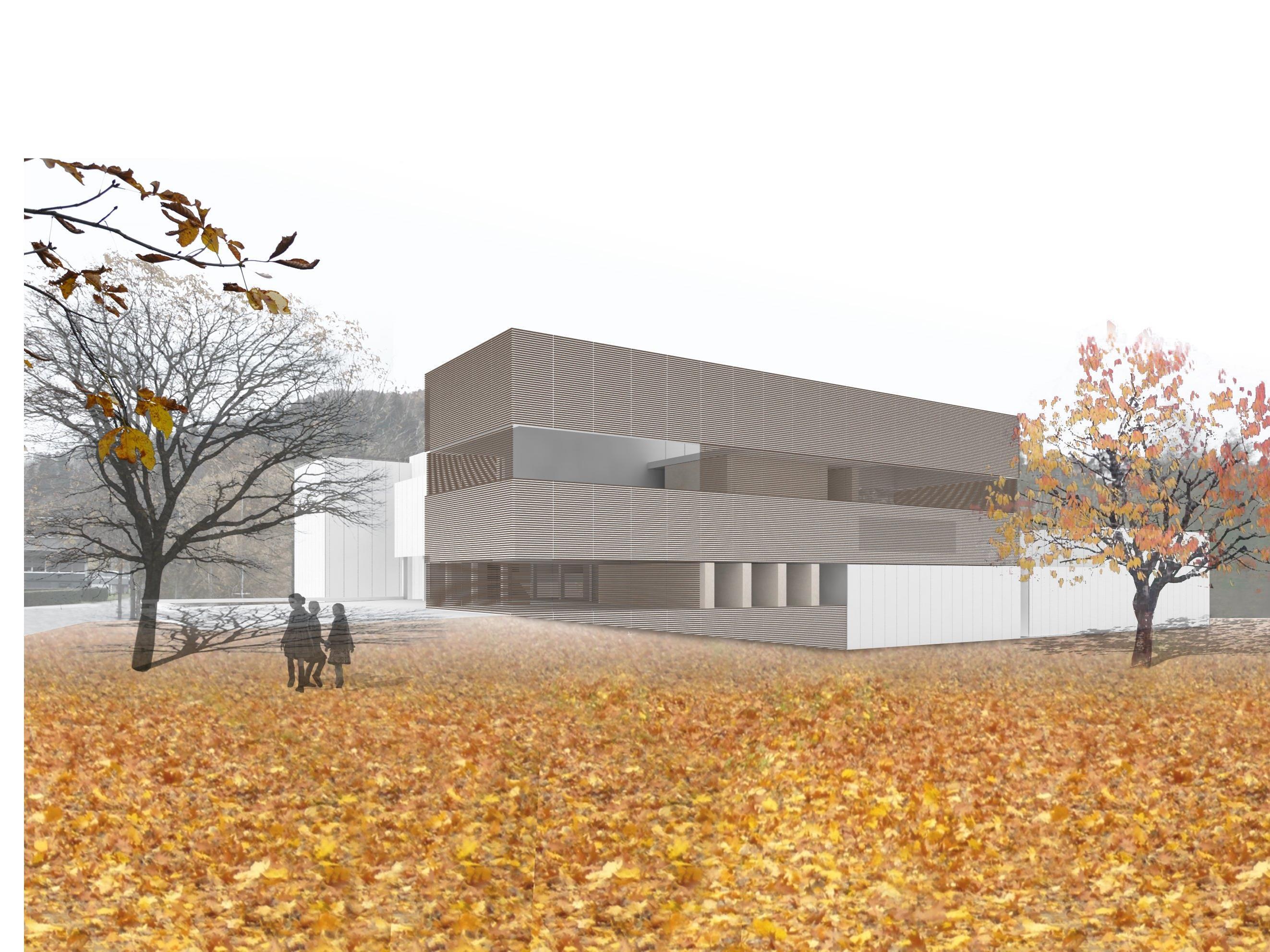 Das Bundesoberstufenrealgymnasium in Egg wird nach den Plänen von ao-architekten saniert und erweitert.